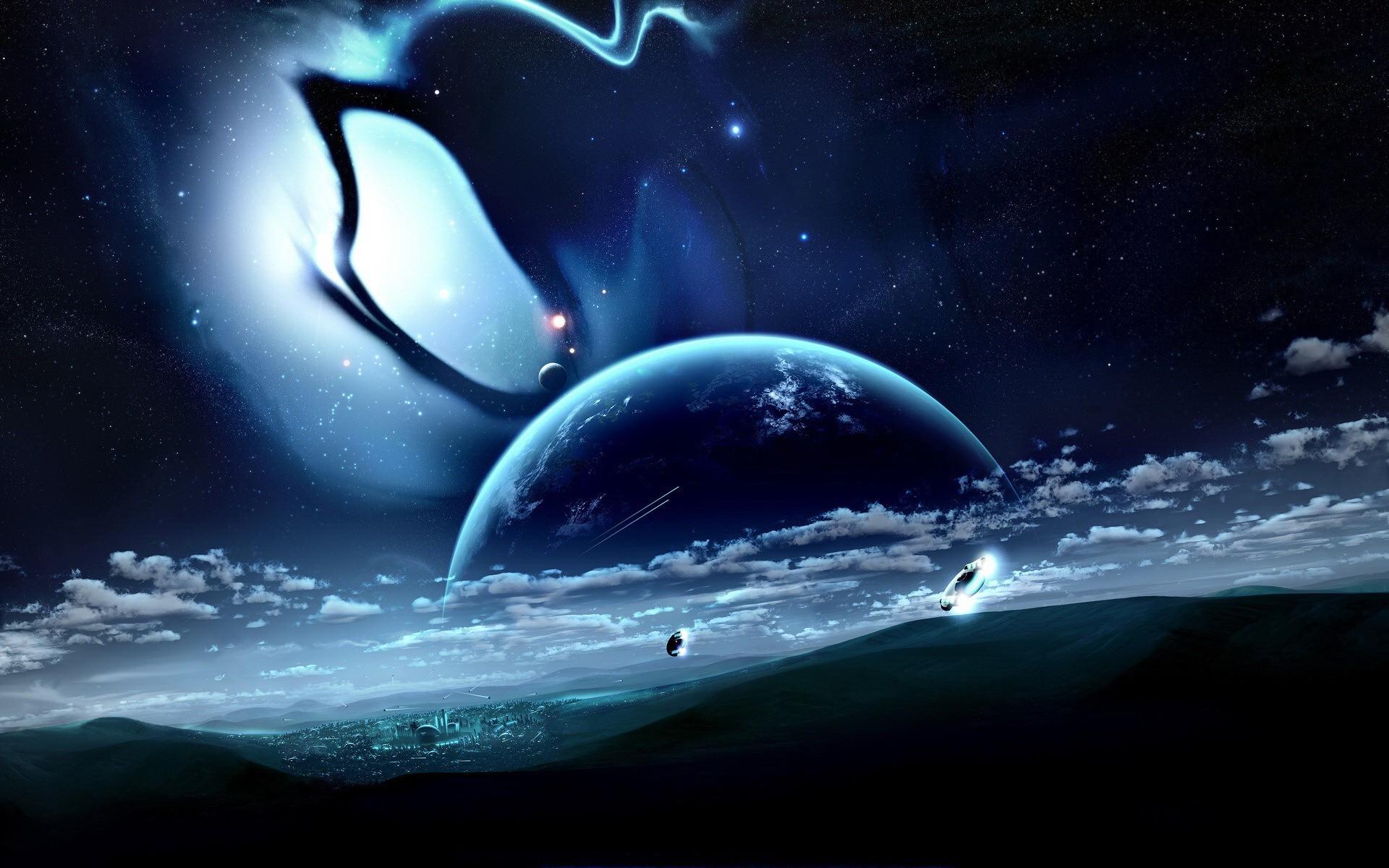 космос мистические картинки парень
