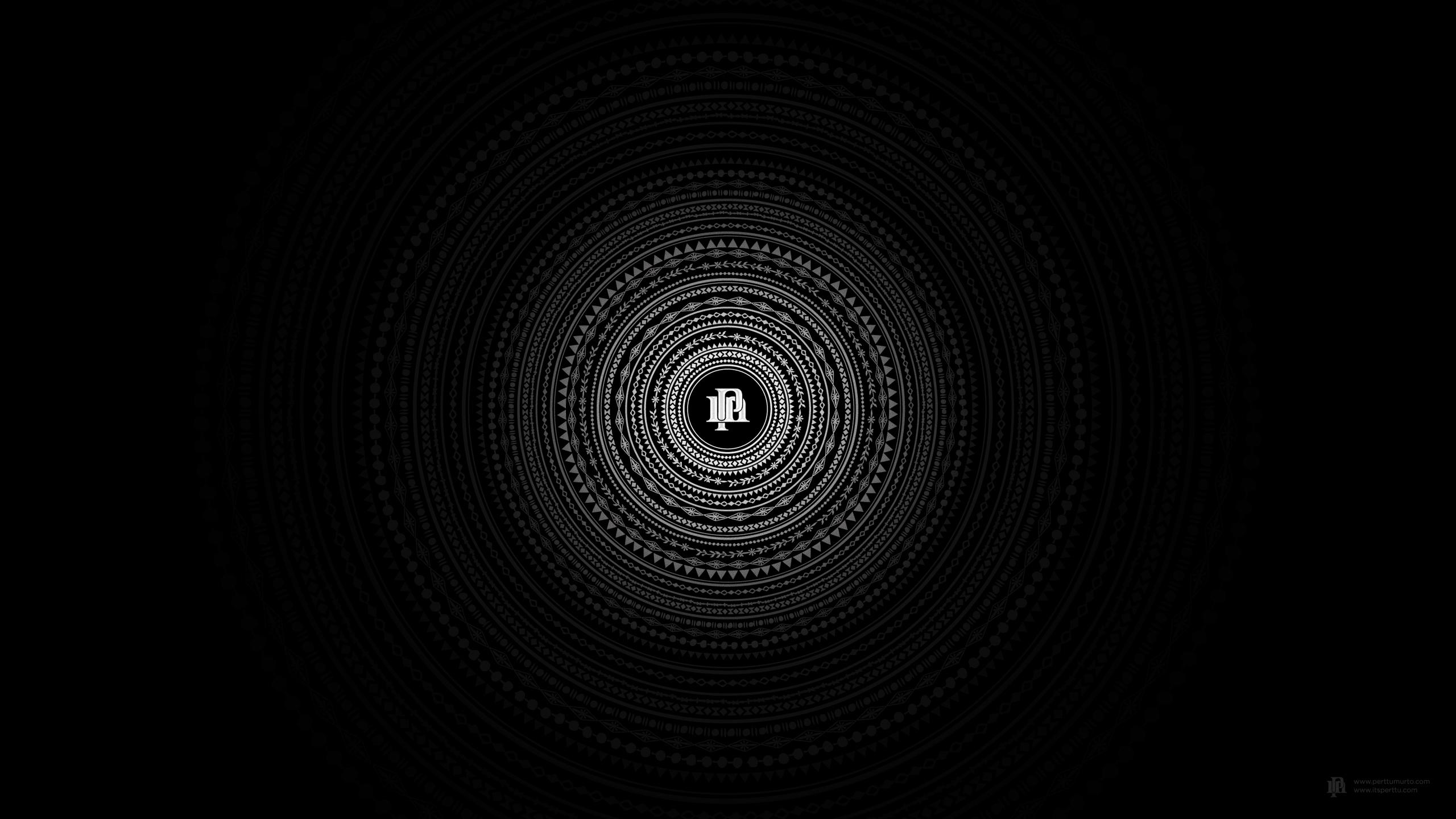 круги узоры темный фон  № 2064598 без смс