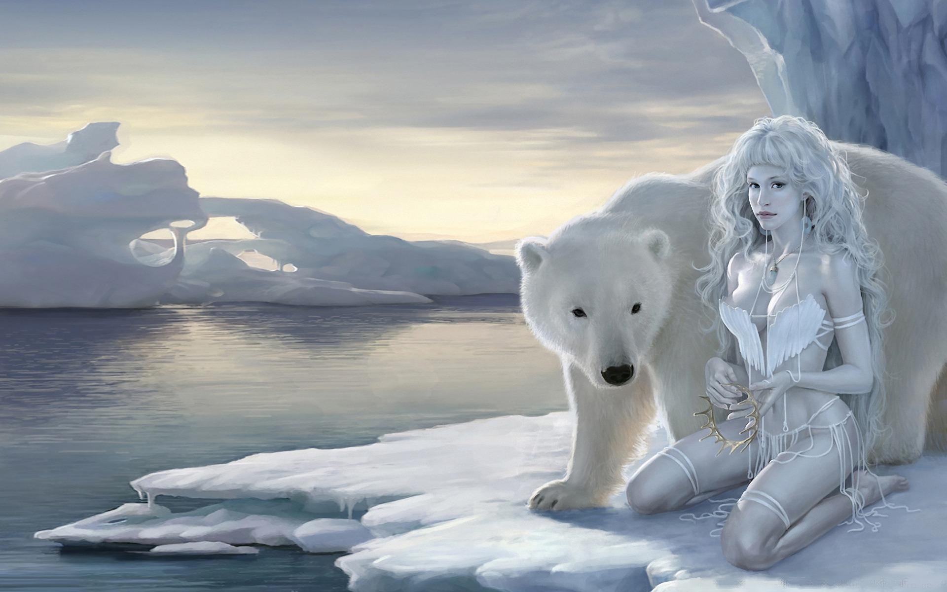 Обои льдина, Медведь, мишка, один. Разное foto 11