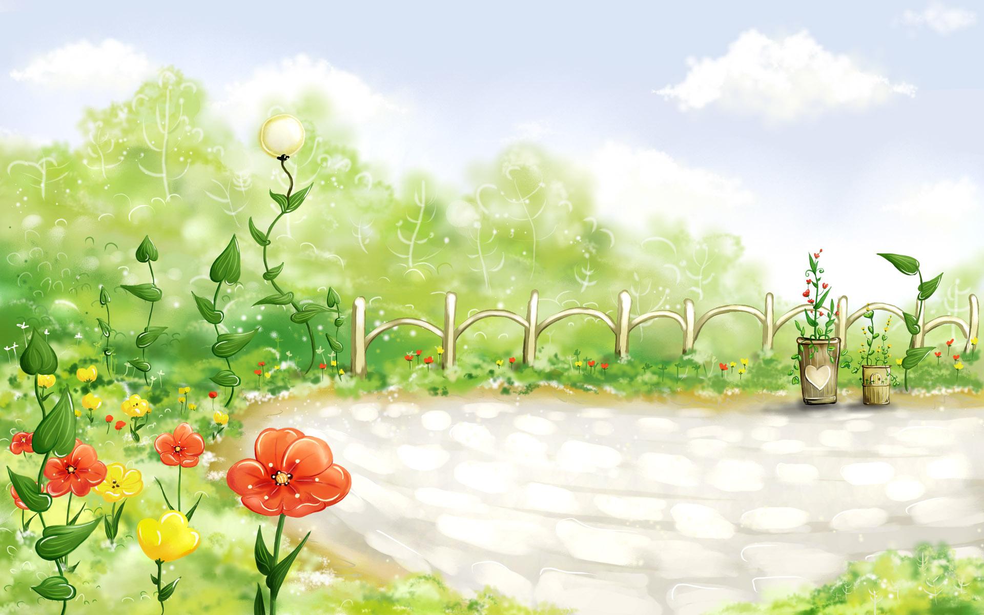 Сказочная картинка луга