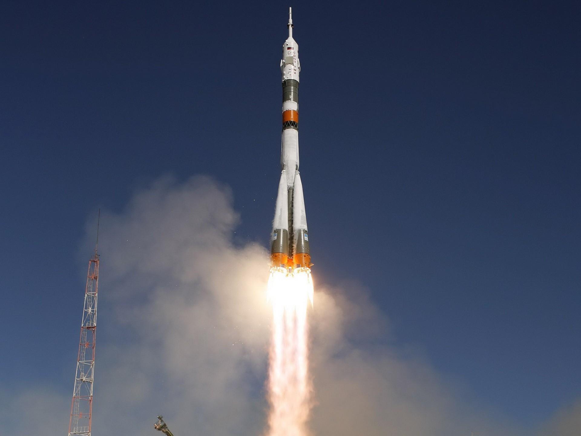 Обои пламя, тма, россия, космодром, Ракета. Разное foto 7