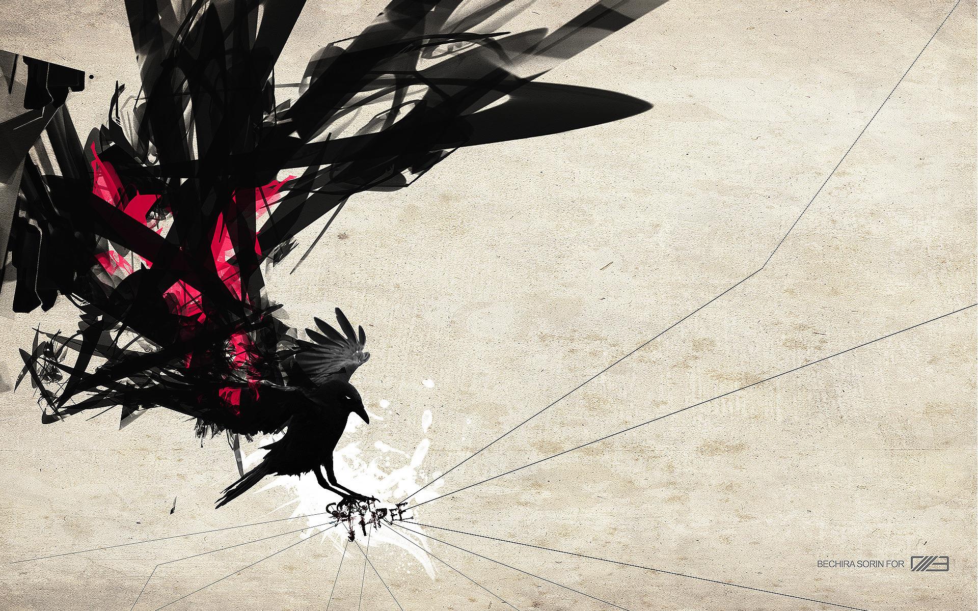 всё мгновенно картинки абстракции ворона лучше сделать самого