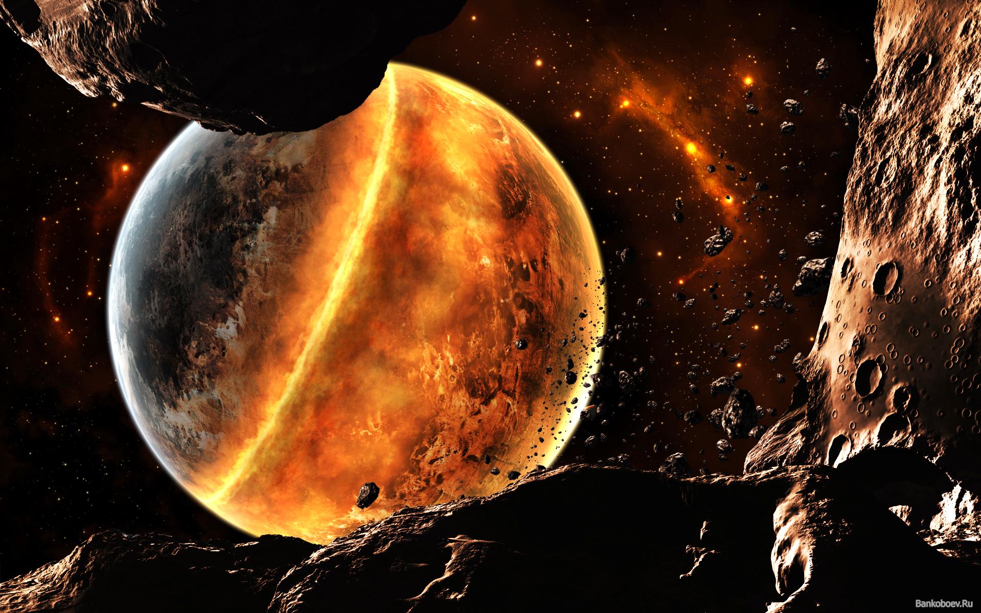 Обои Explosion, взрыв, space, Meteorite, метеорит. Космос foto 19