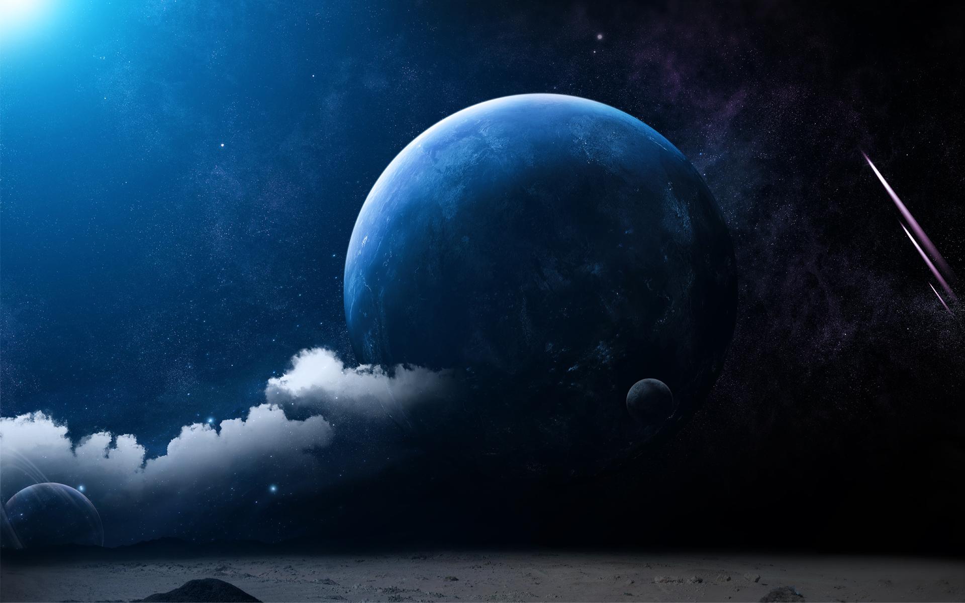 Картинки красивой луны в космосе
