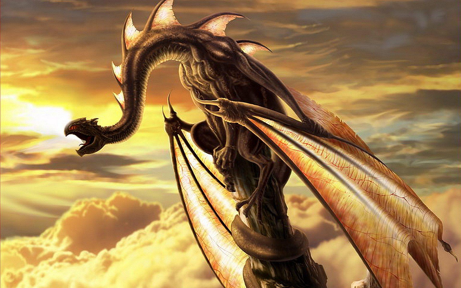Картинка с тремя драконами