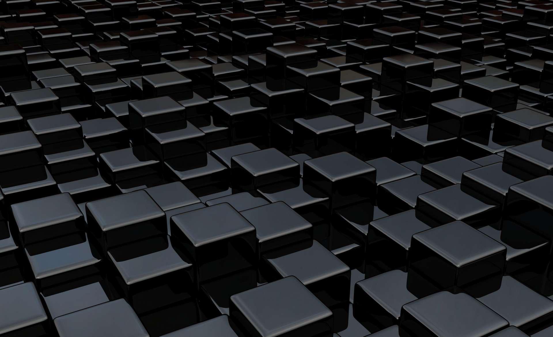 картинка для рабочего стола черные кубы спасибо