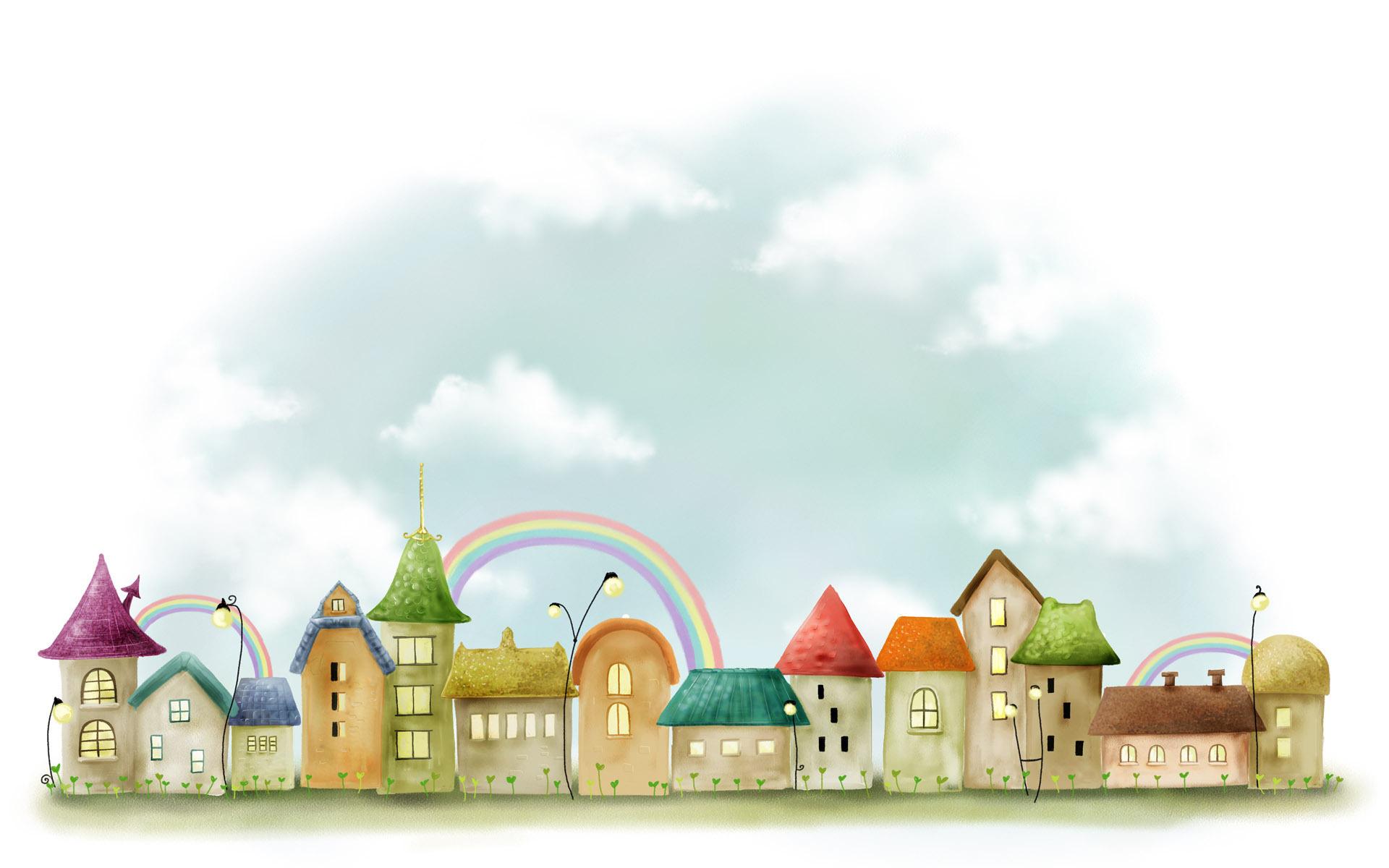 Город картинки для детей на прозрачном фоне
