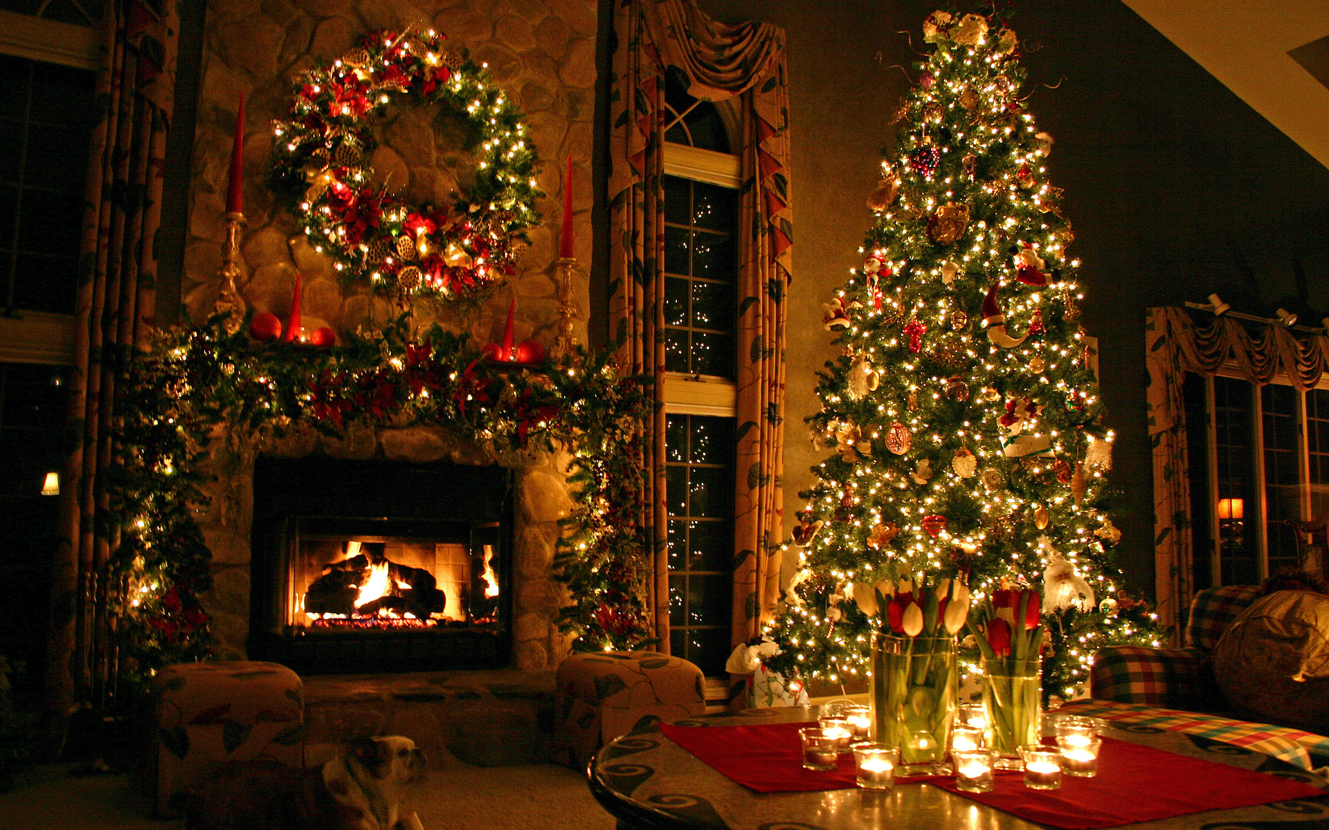 картинки на рождество рабочий стол