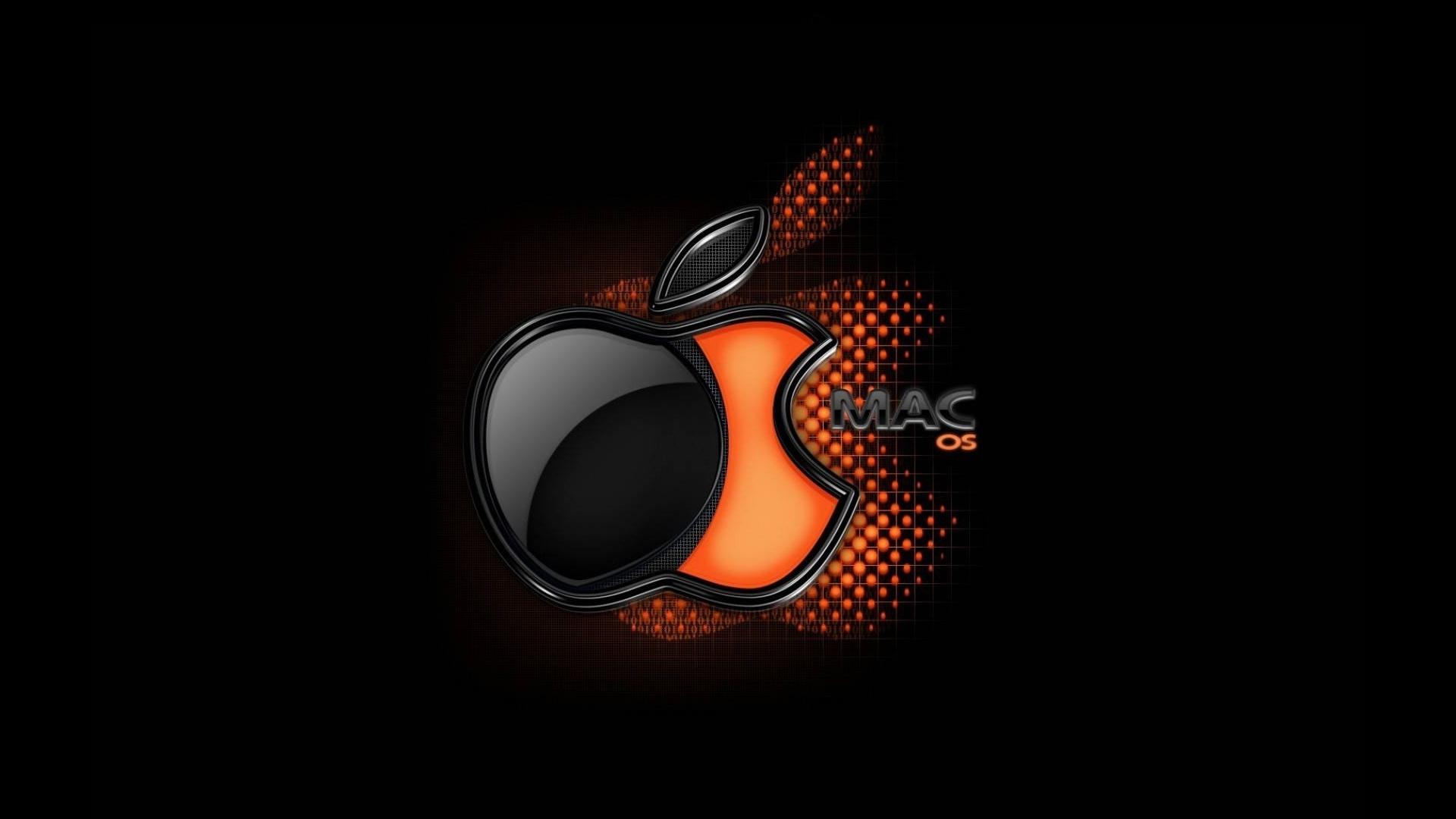 Обои яблоко, темный фон, apple. HI-Tech foto 14