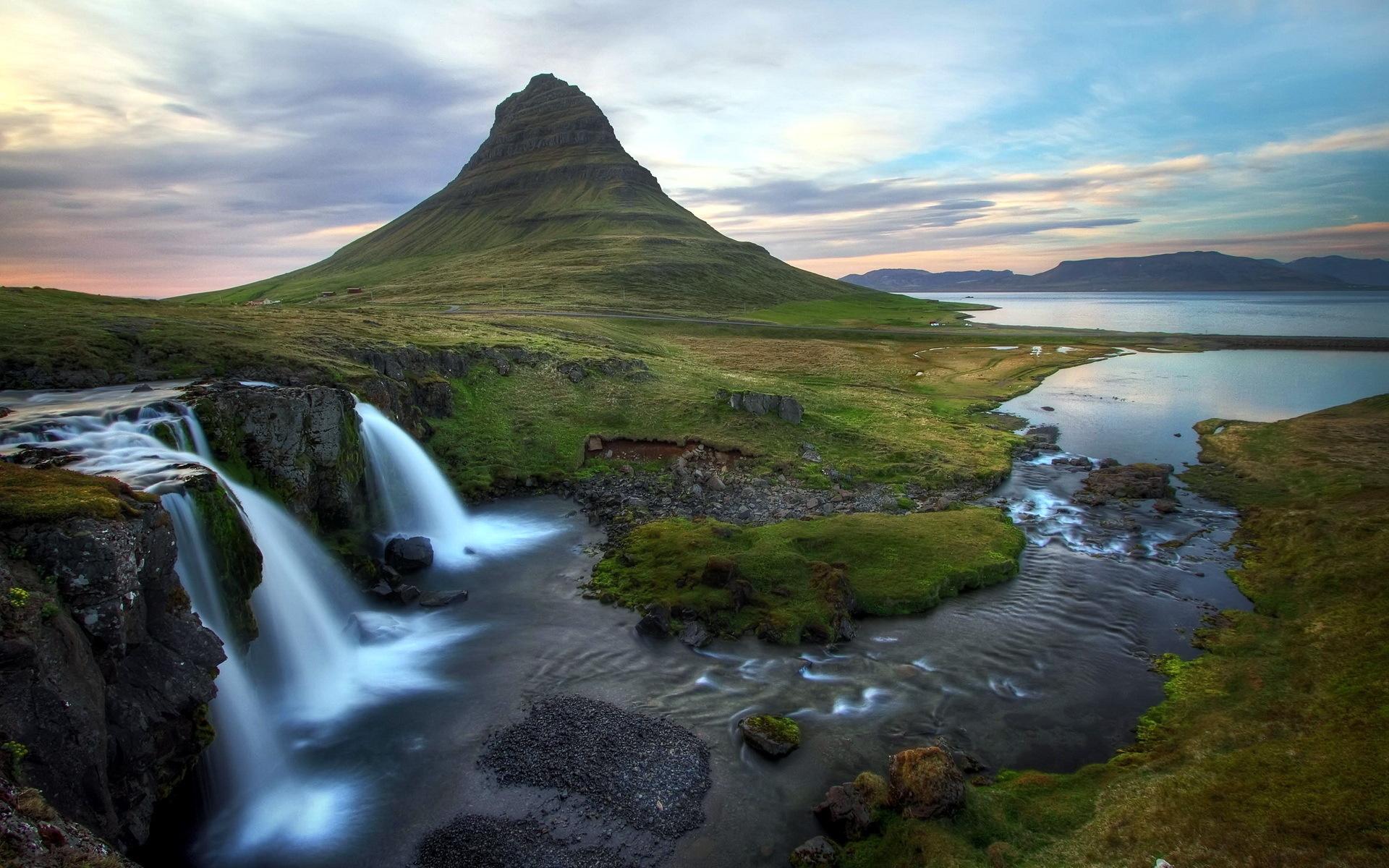 обои на рабочий исландия под заказ двухцветных