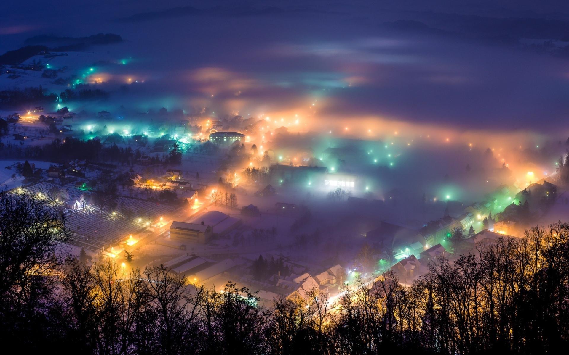 туман город обои для рабочего стола № 648849 без смс