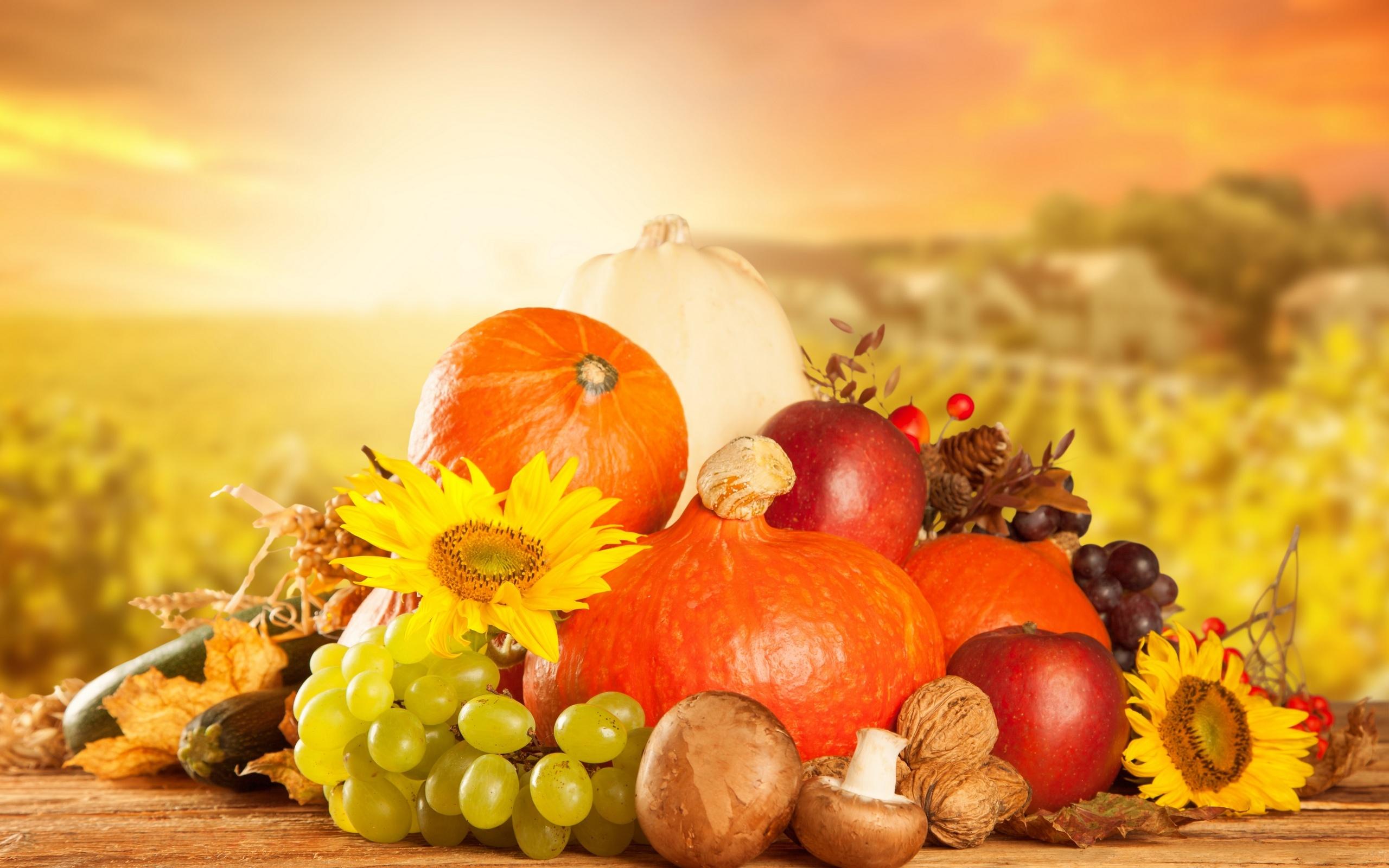 обои на рабочий стол овощи фрукты осень 15494