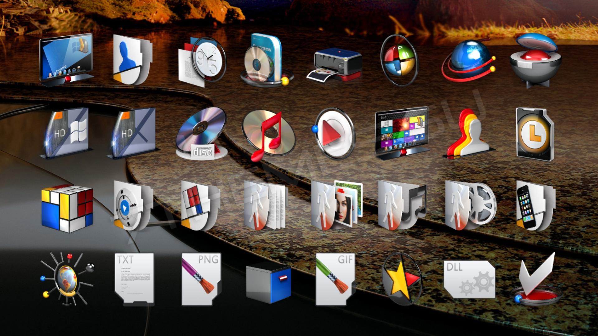 оригинальные картинки иконки для рабочего стола небольшие