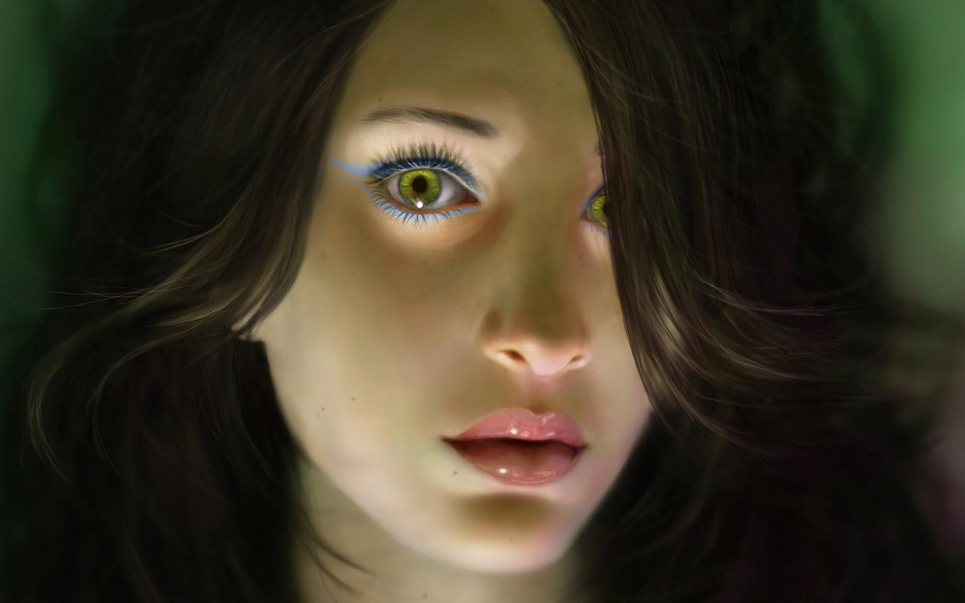 4 фото 1 слово девушка с глазом