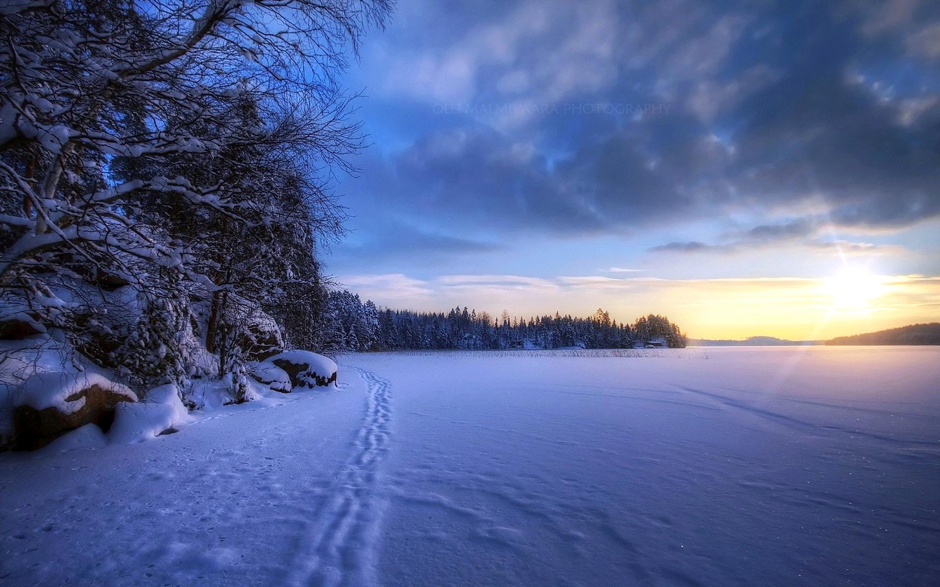 зимние пейзажи фотографии на рабочий стол этим было проще