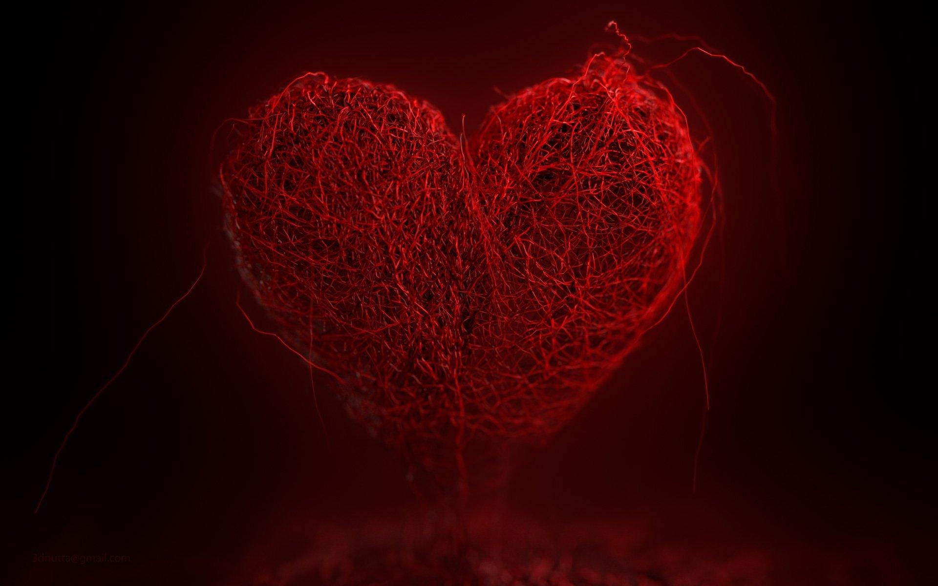 Красное сердце фото картинки