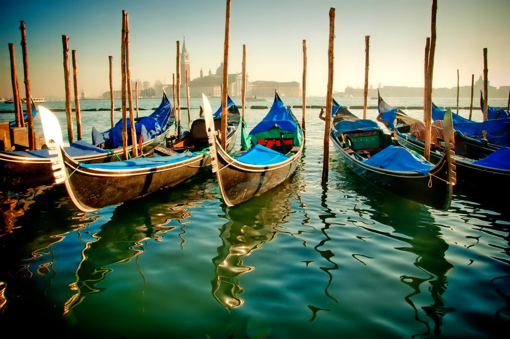Обои лодка, канал, венеция. Города foto 15