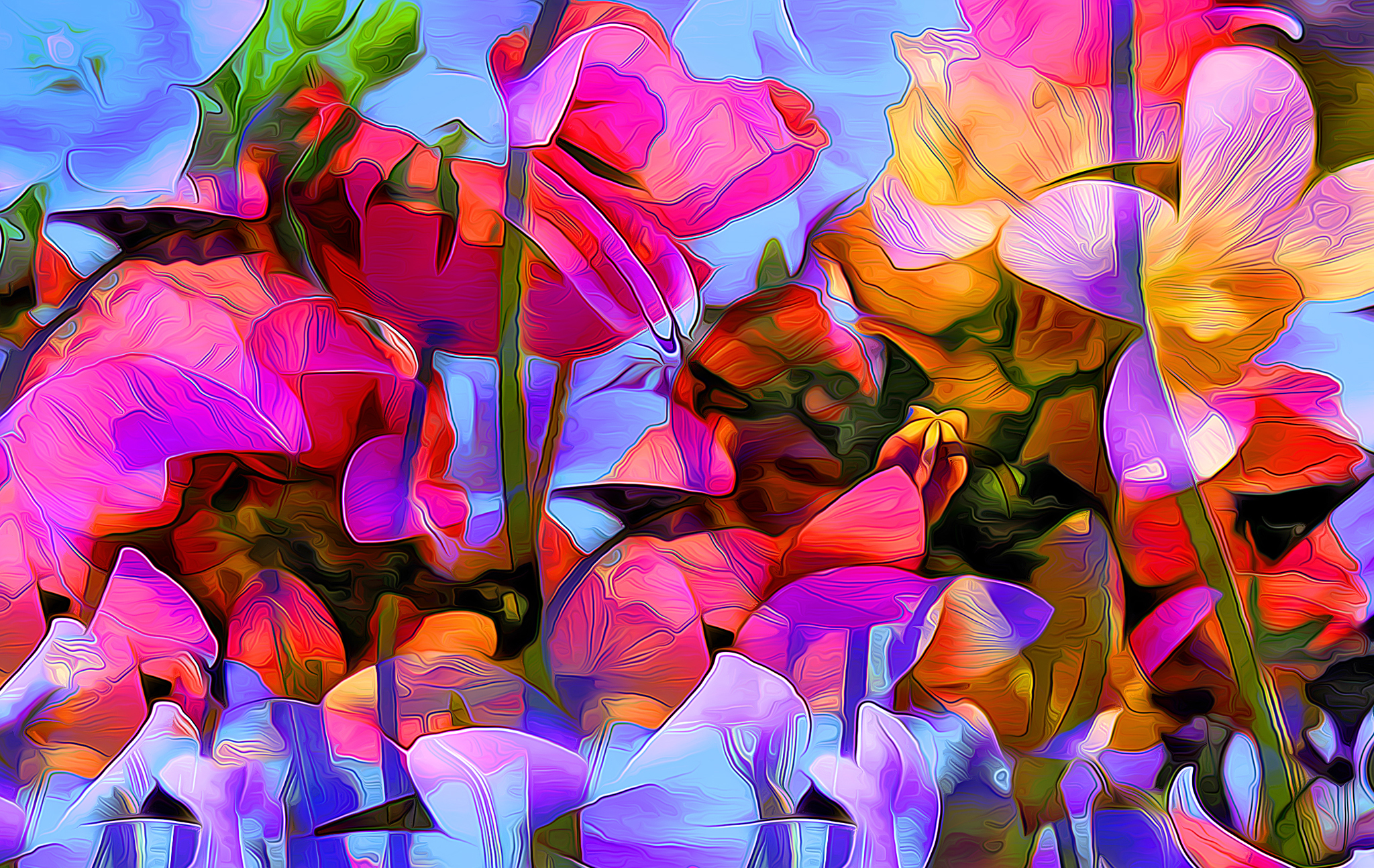 Обои краски, цветы. Абстракции foto 13