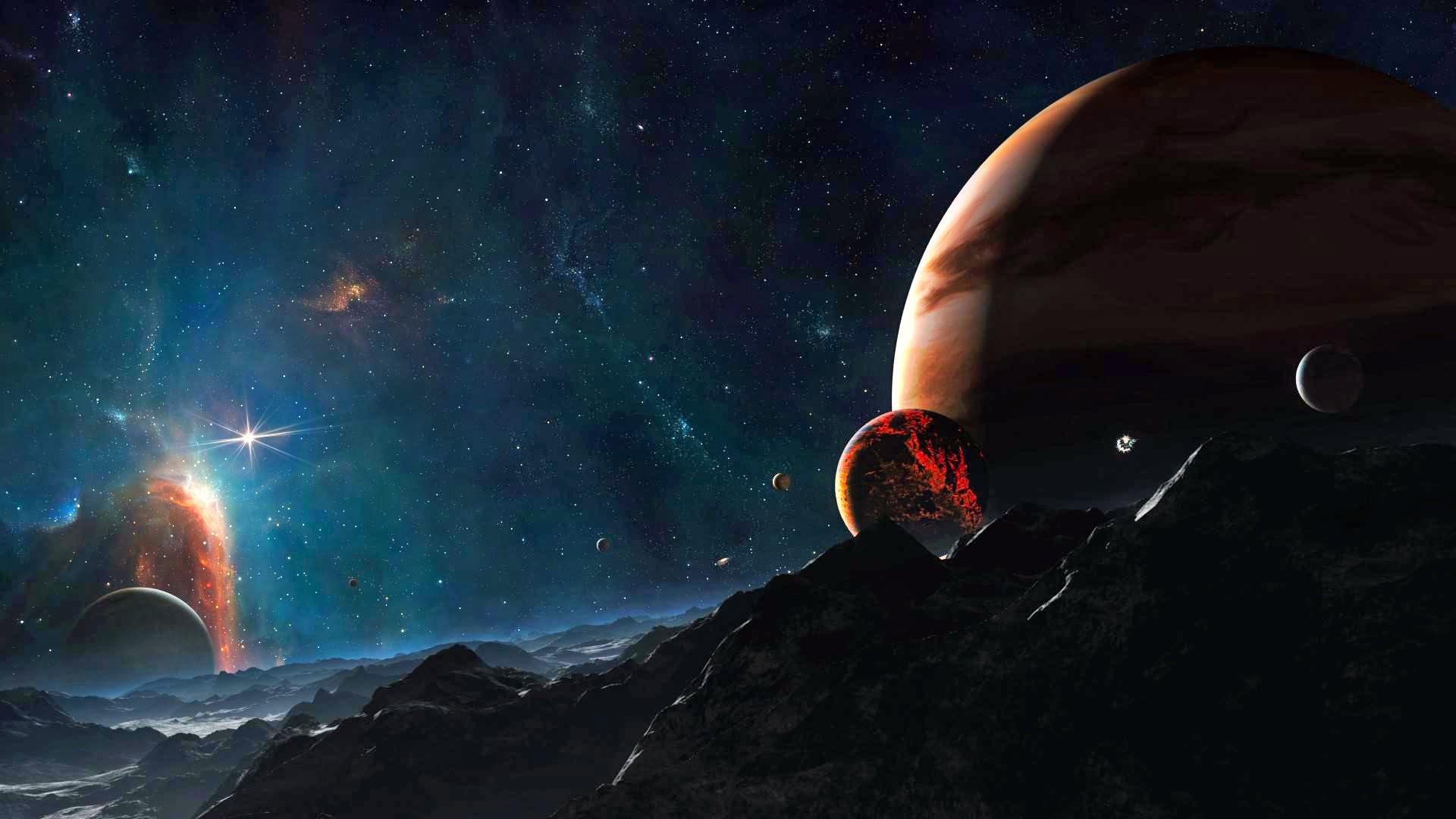 обои на рабочий стол космос юпитер № 281563  скачать