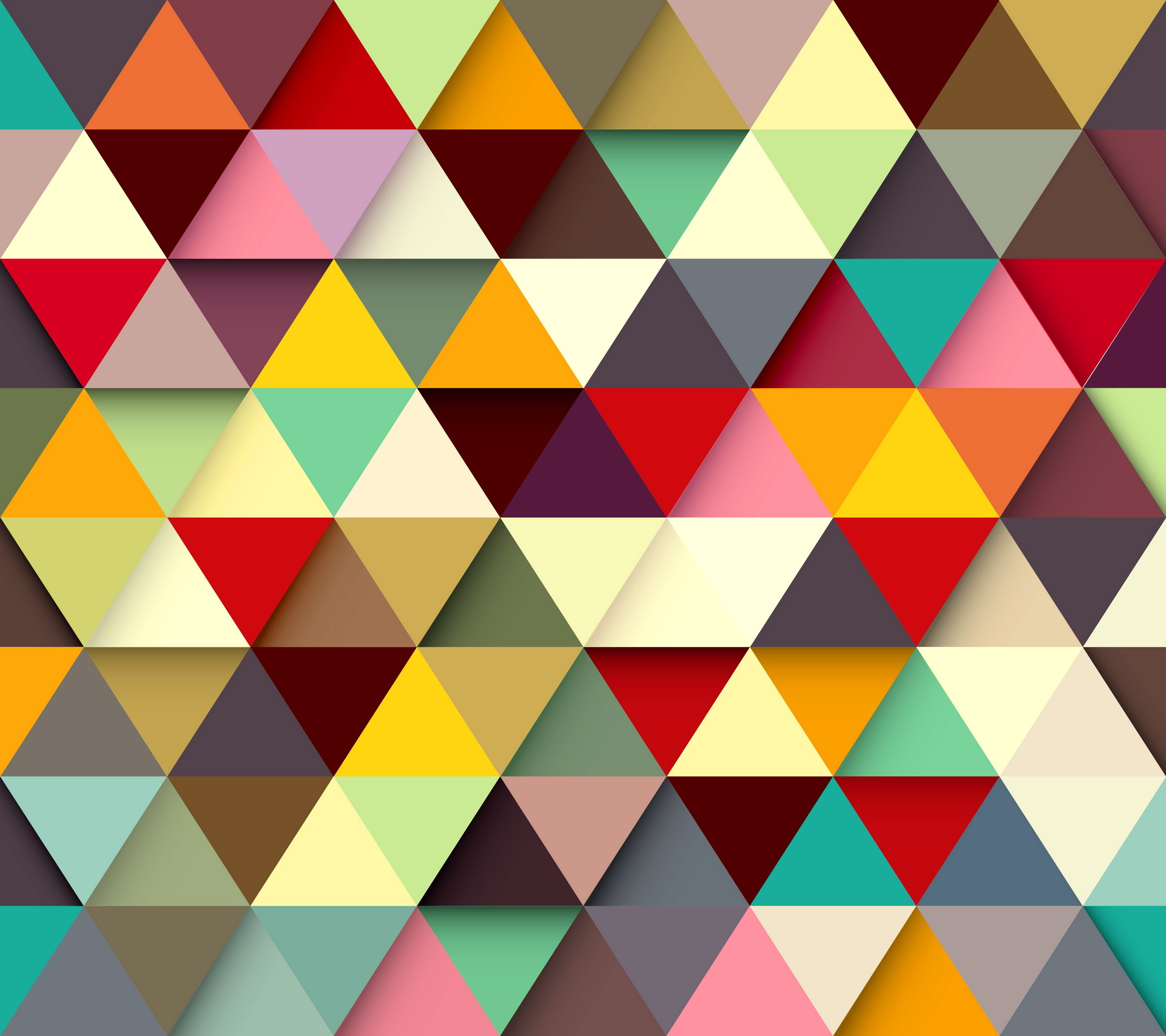 Геометрический рисунок цветной
