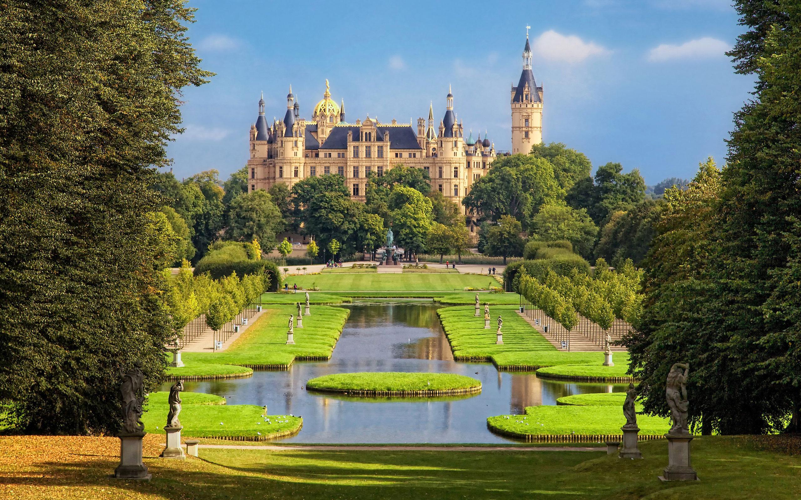Обои германия, Пейзаж, Новая ратуша, ганновер, пруд. Города foto 12