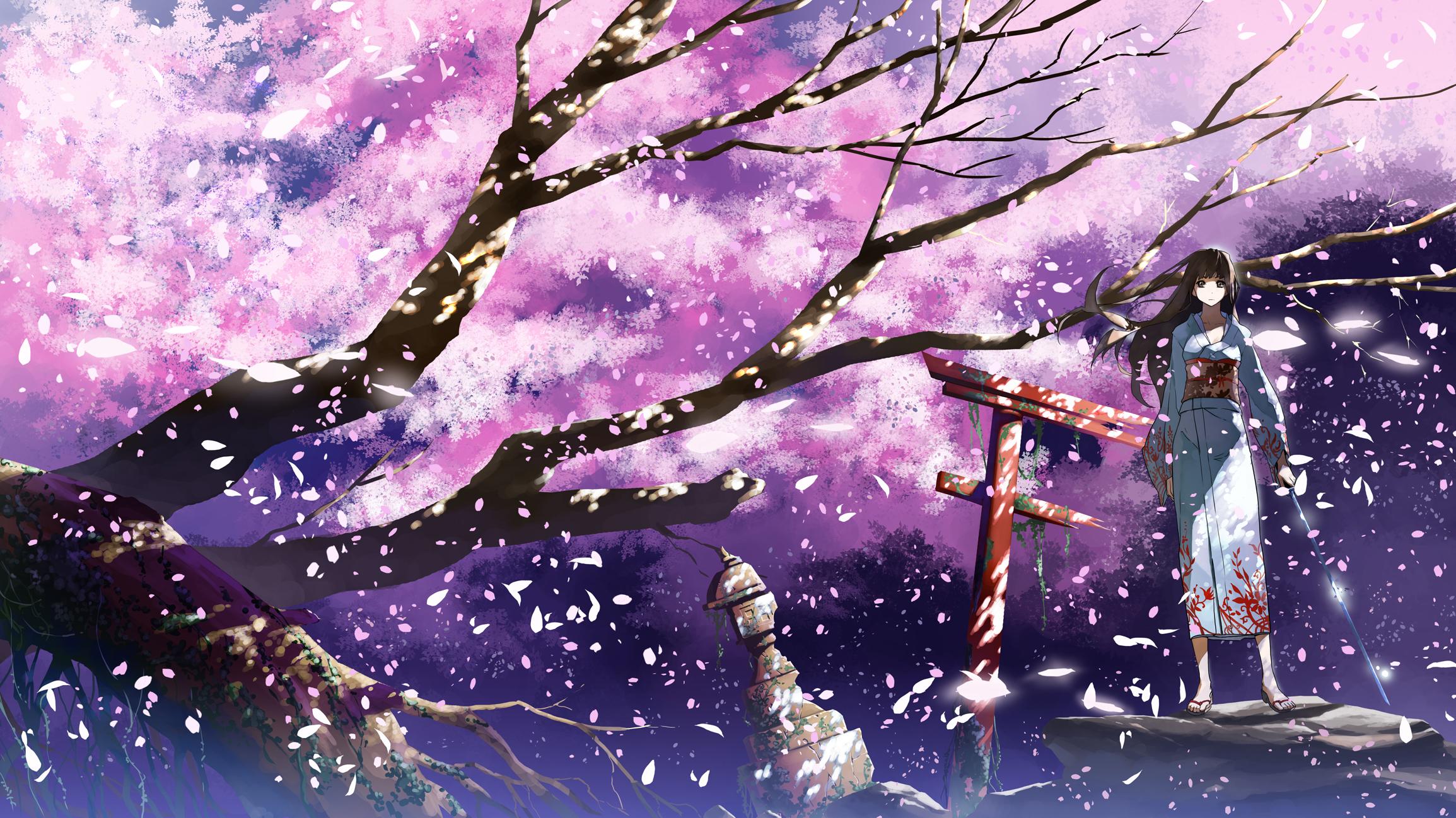Картинки аниме сакура рабочий стол