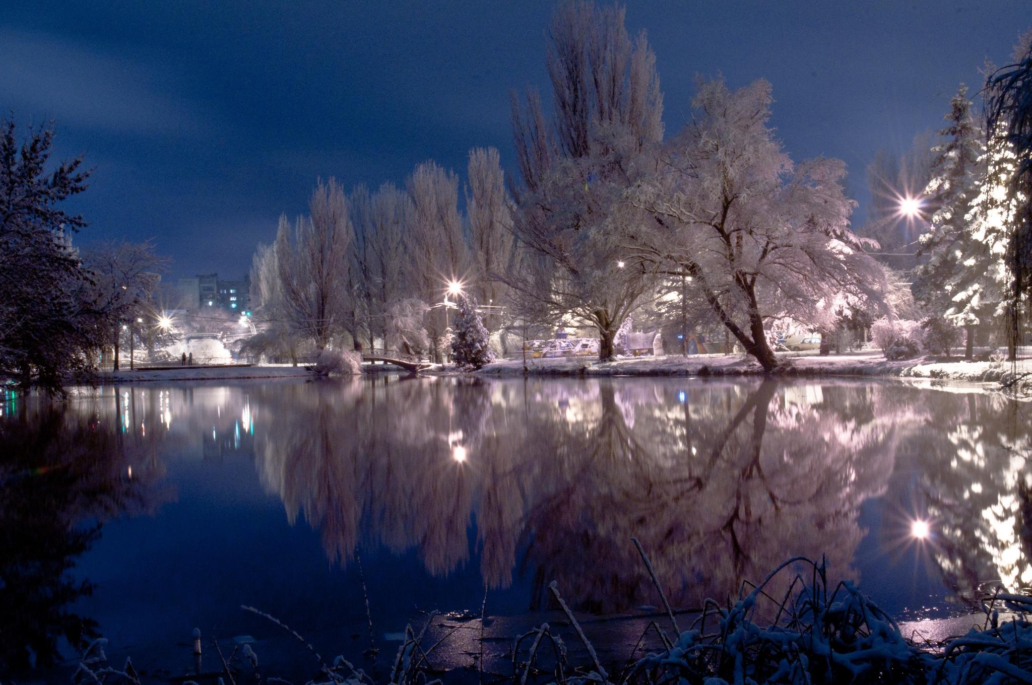 каждой красивые фото ночной зимы парень