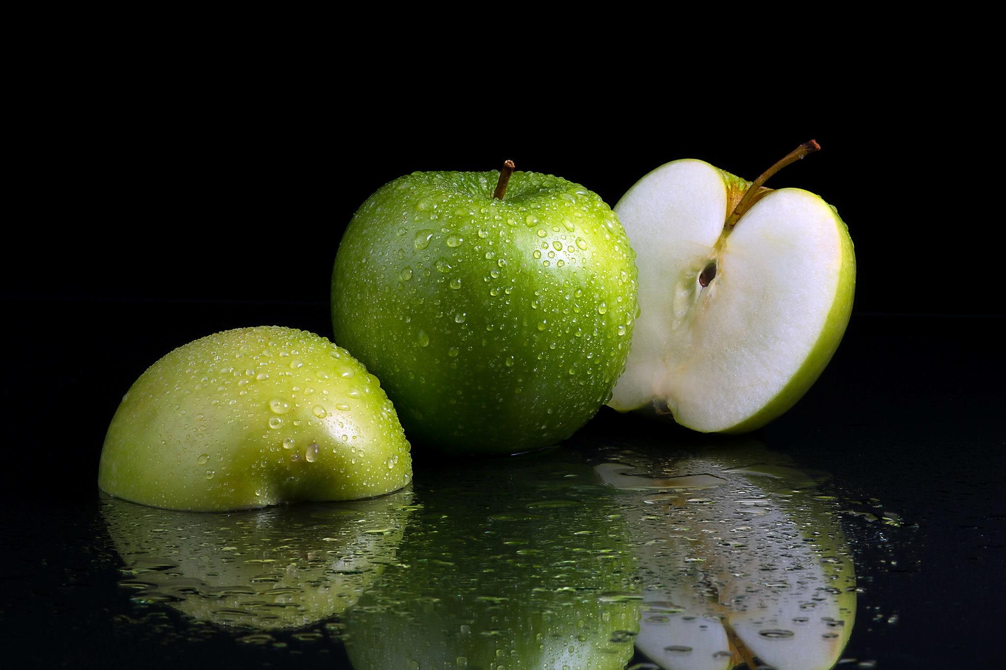 Зеленое яблоко картинка высокого качества