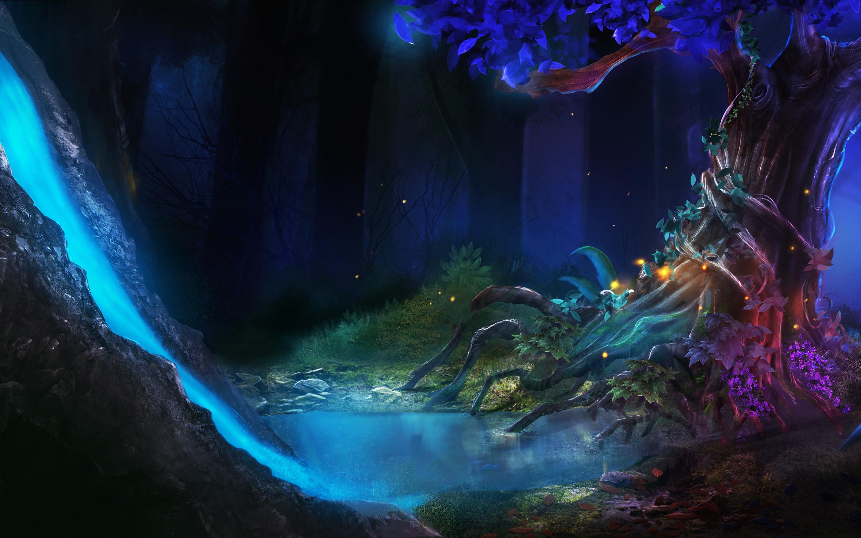 Картинки дерево природа upscale пейзажи аниме арт на