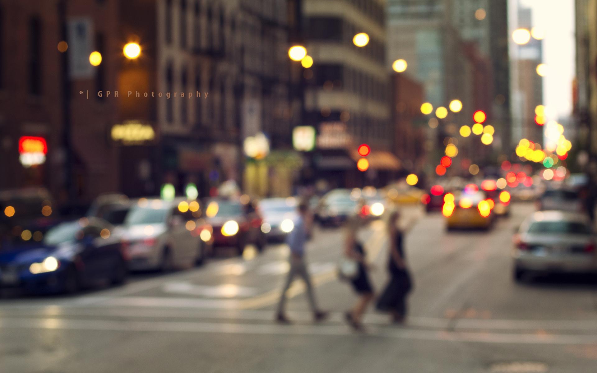 фон размытая улица