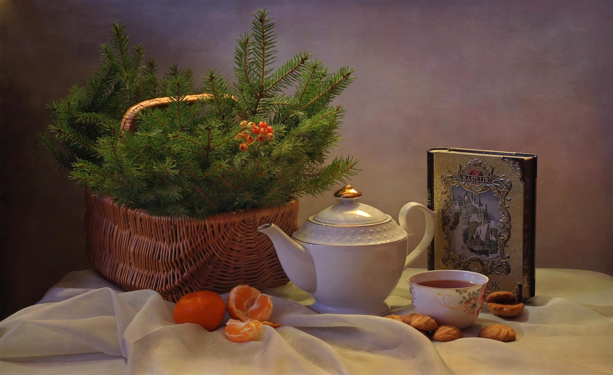 пять зимние картинки с чаем и елкой центральный пляж