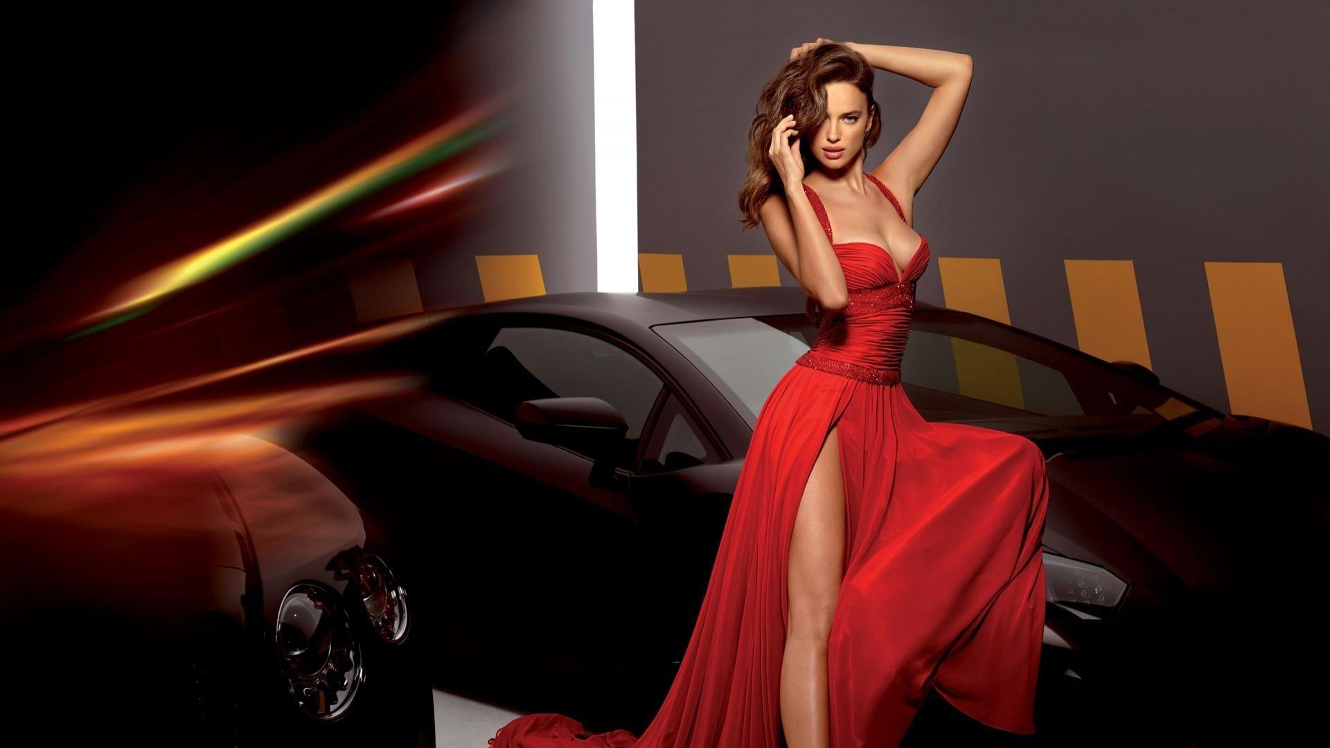 эффекты девушка в красном платье особенностью