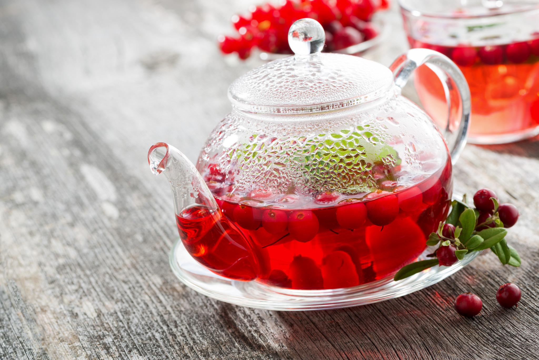 Обои клюква, Заварник, мёд, чай. Еда foto 10
