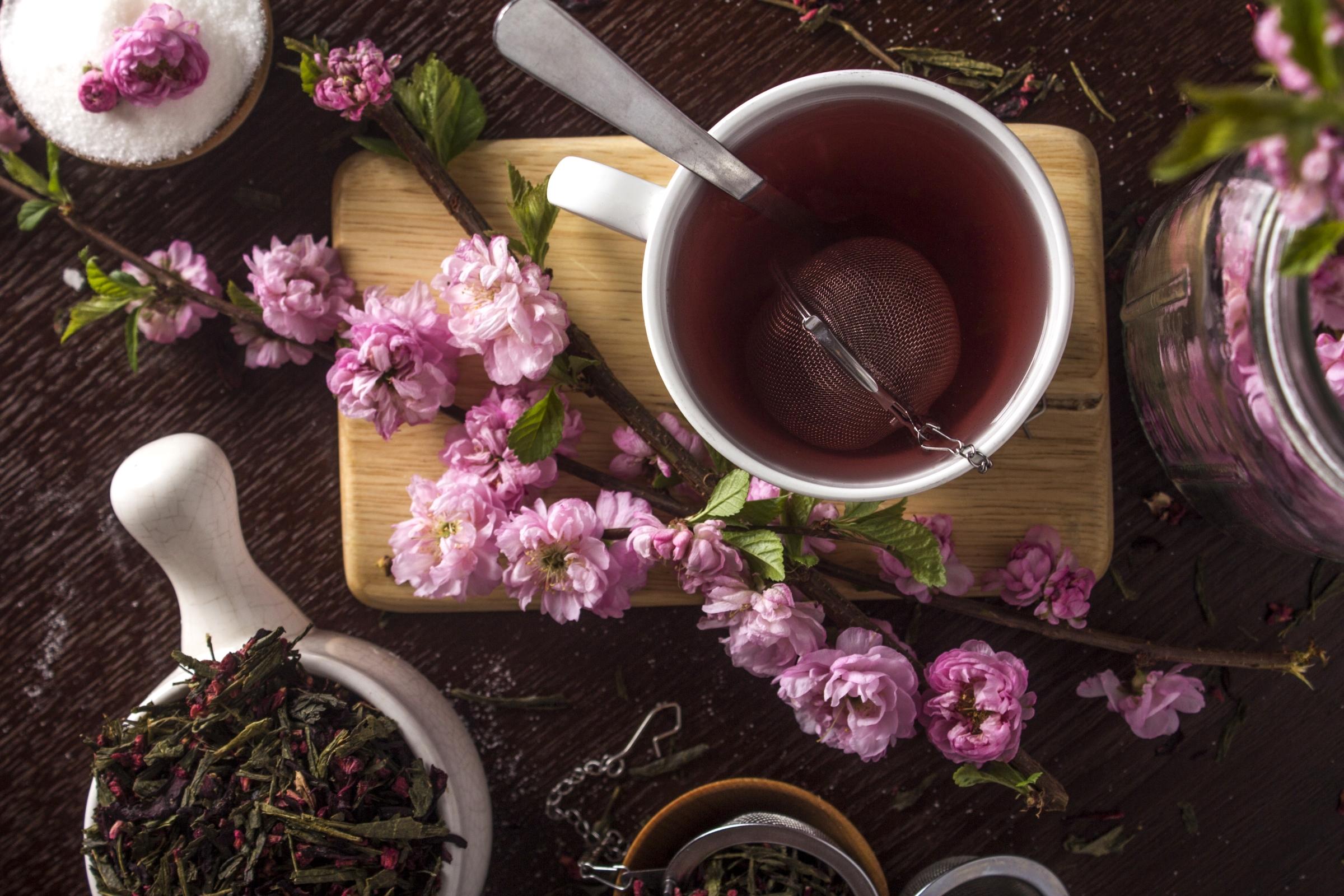 Картинки цветы и чай