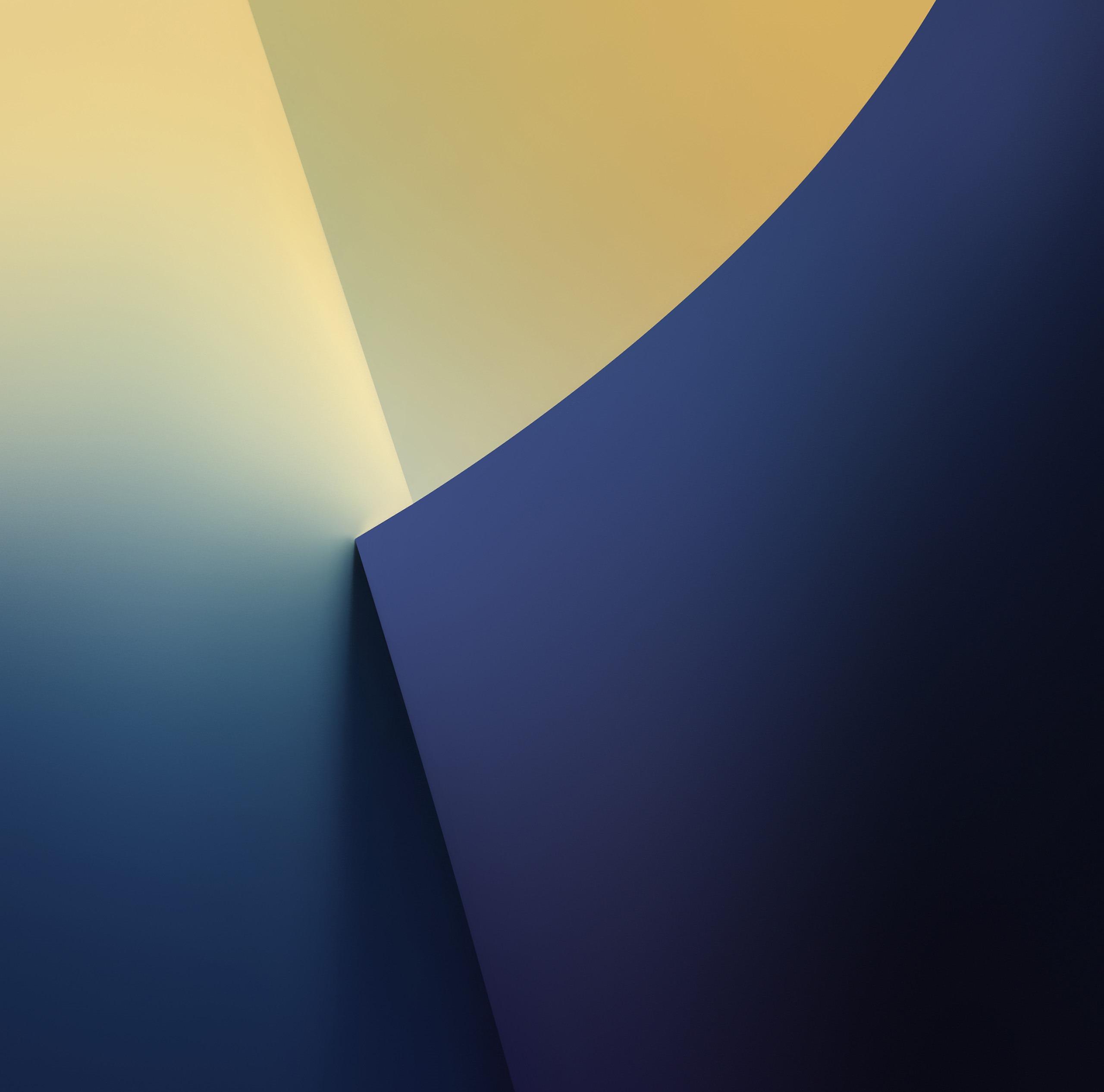 Обои Цвет, синий, желтый. Абстракции foto 16