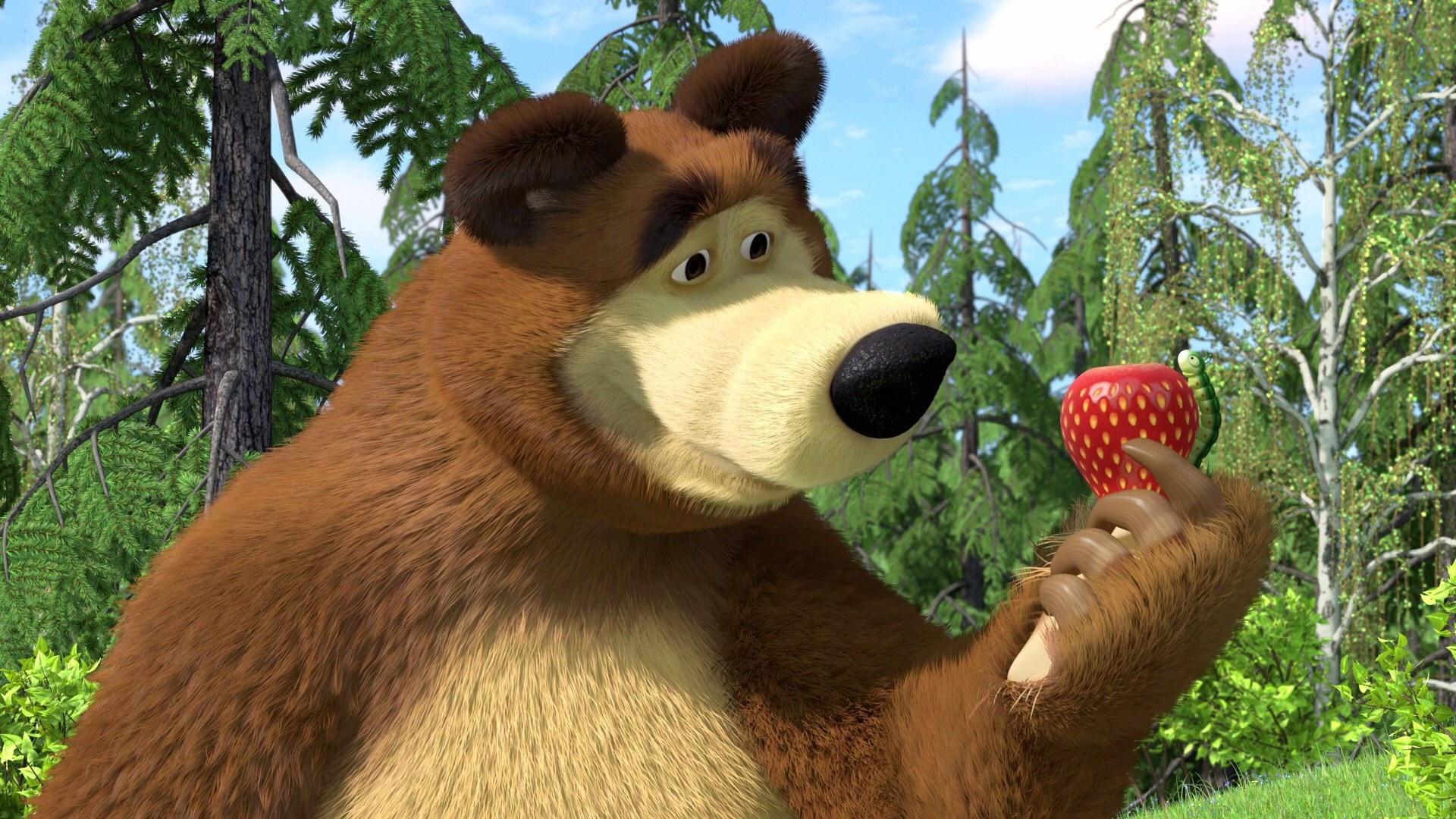 мишка с ягодами картинки уже двенадцать
