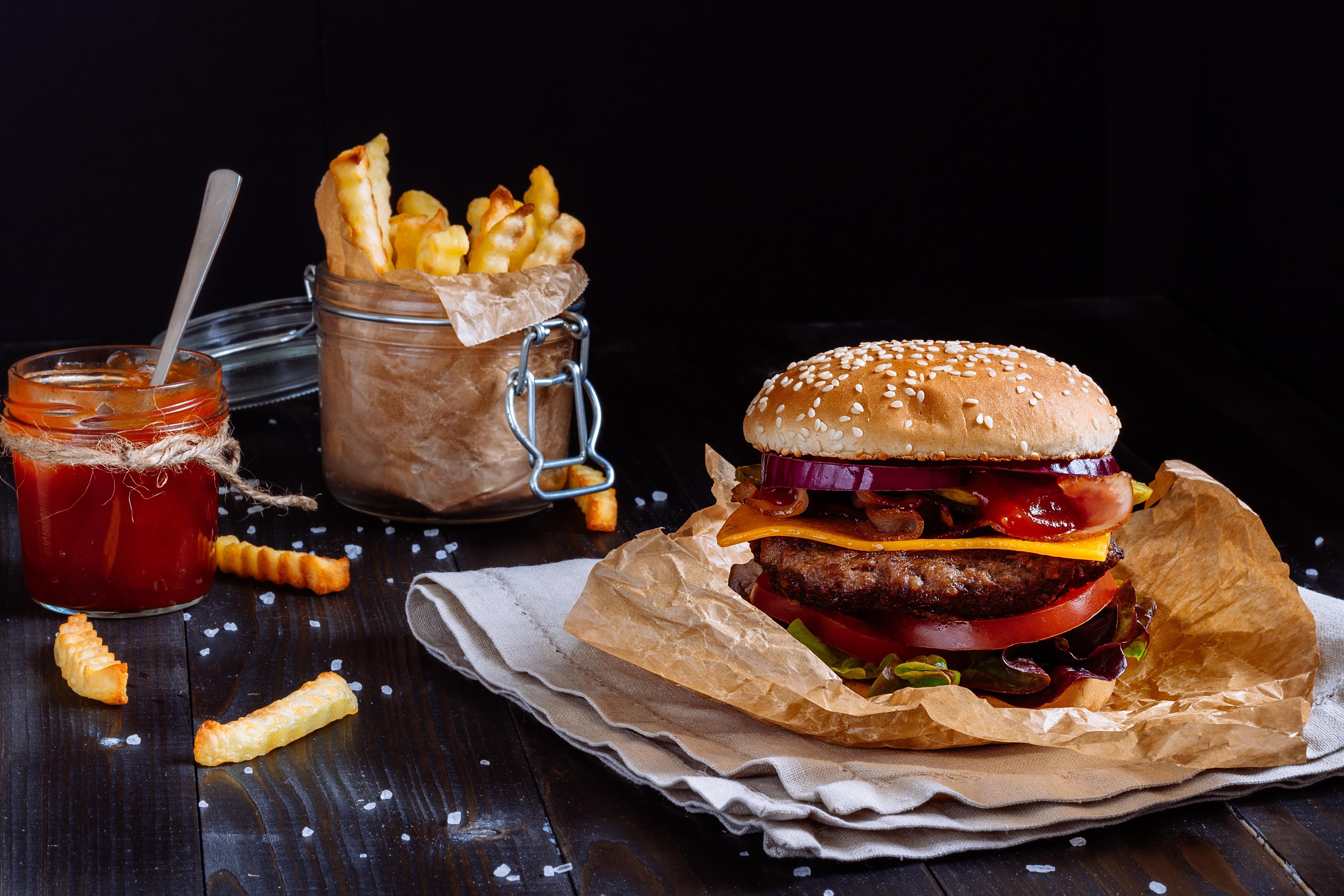 вредные гамбургеры картинки проехать