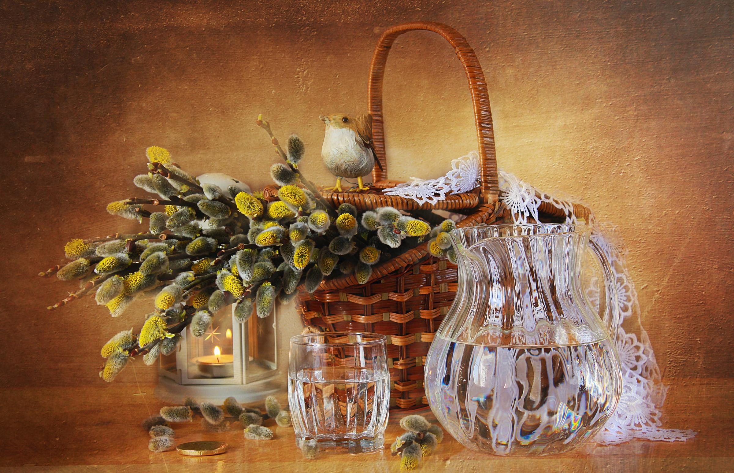 Обои стекло, натюрморт, бутылка, цветы, графин. Разное foto 14