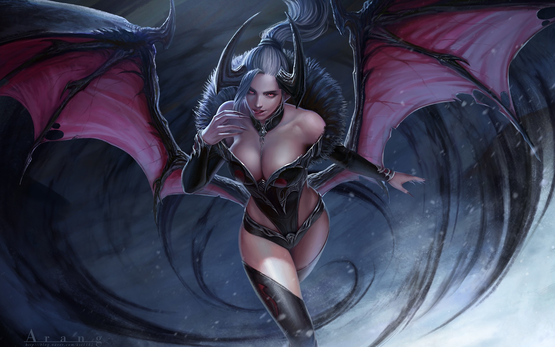 Winged succubus erotic fantasy xxx girl