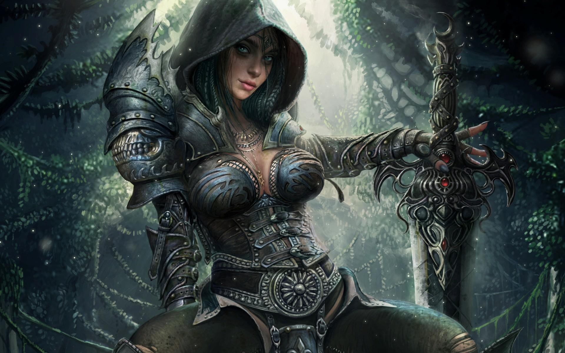 Картинки воинственная девушка