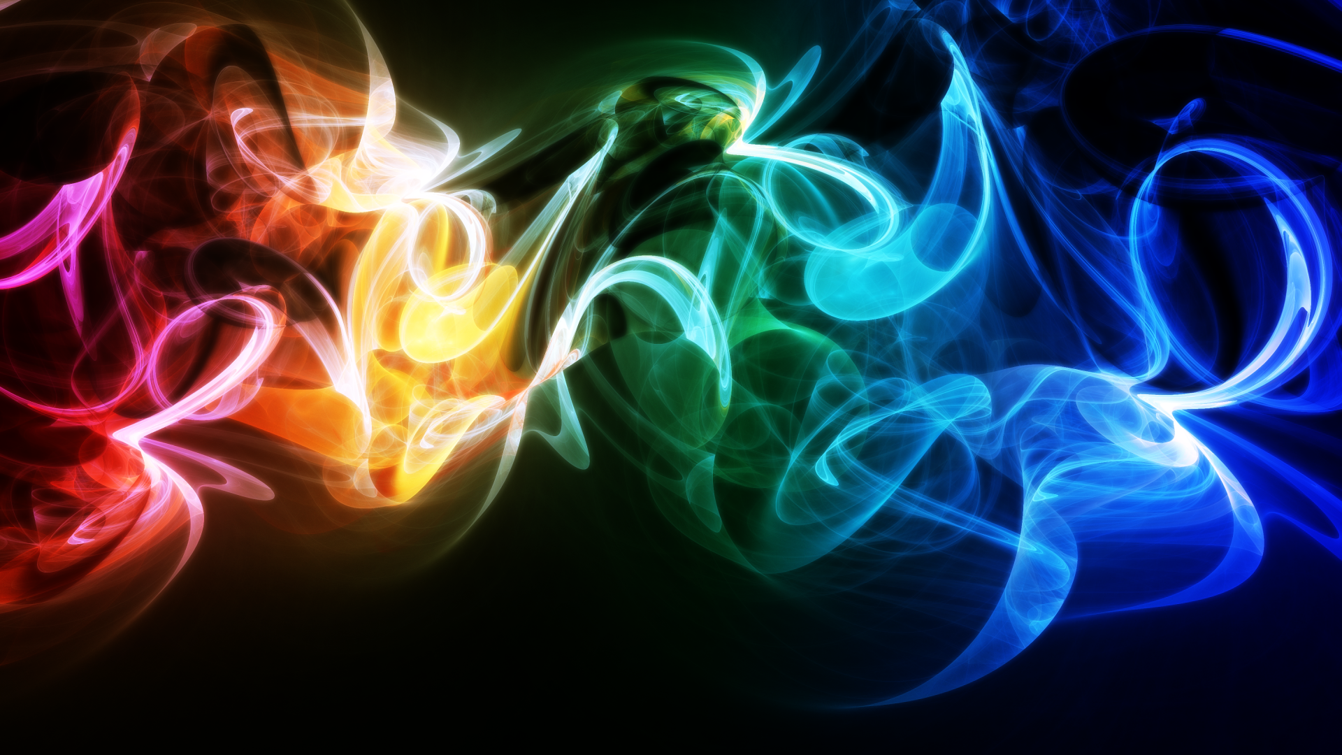 Обои background, колор, wavy, Abstract, Colored, абстракция, rainbow. Абстракции foto 2