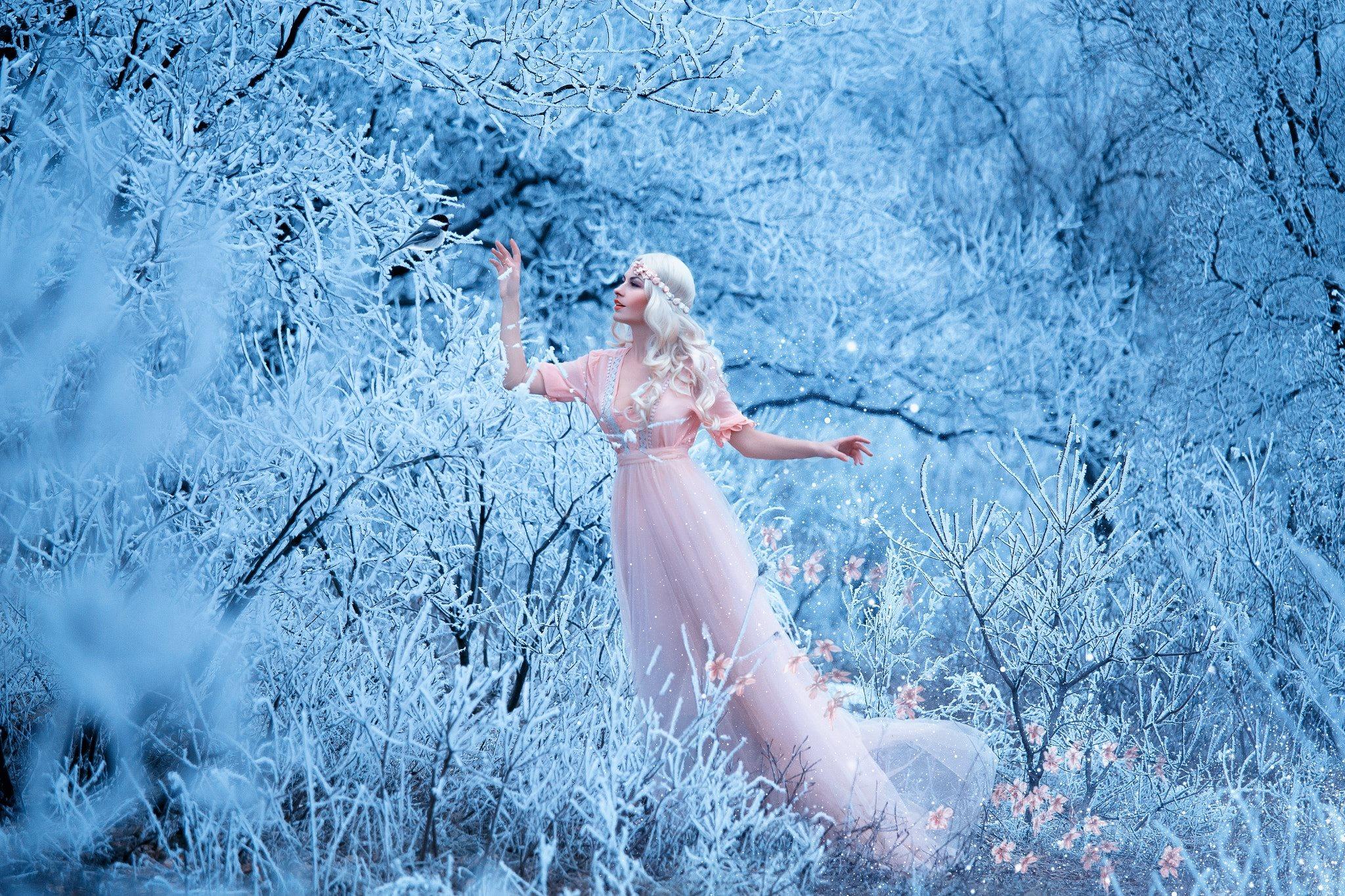 Картинки и фото зимы женщина