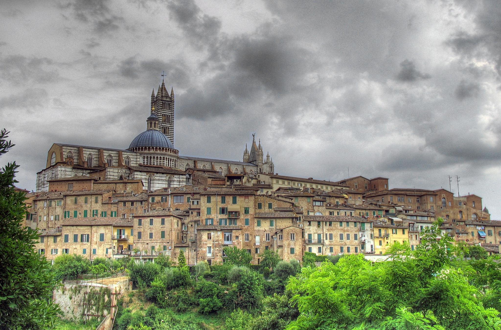Обои тоскана, italy, крыши, Tuscany, сиена, здания. Города foto 13