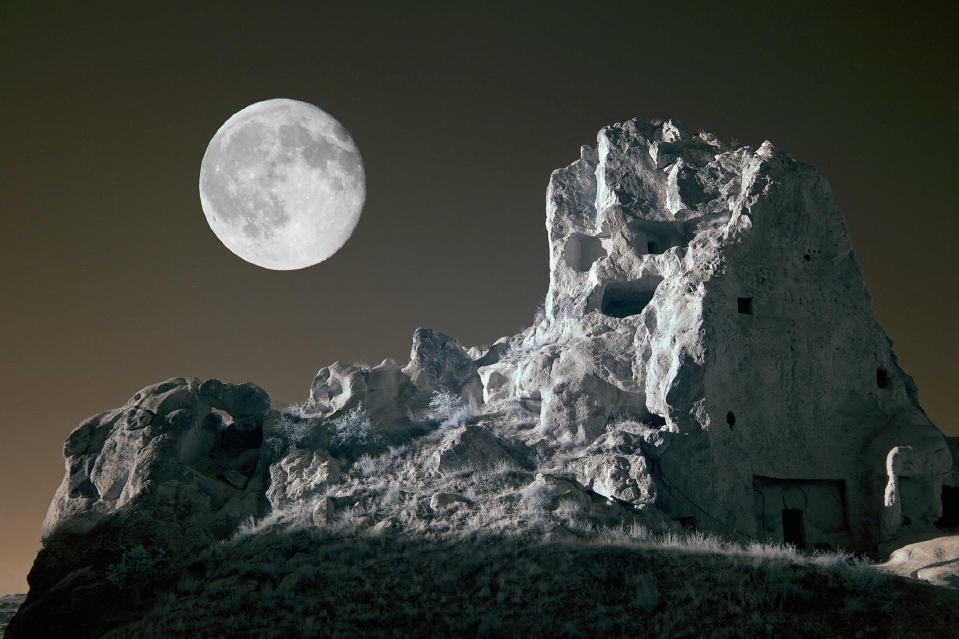 фотография тающей луны оформляем