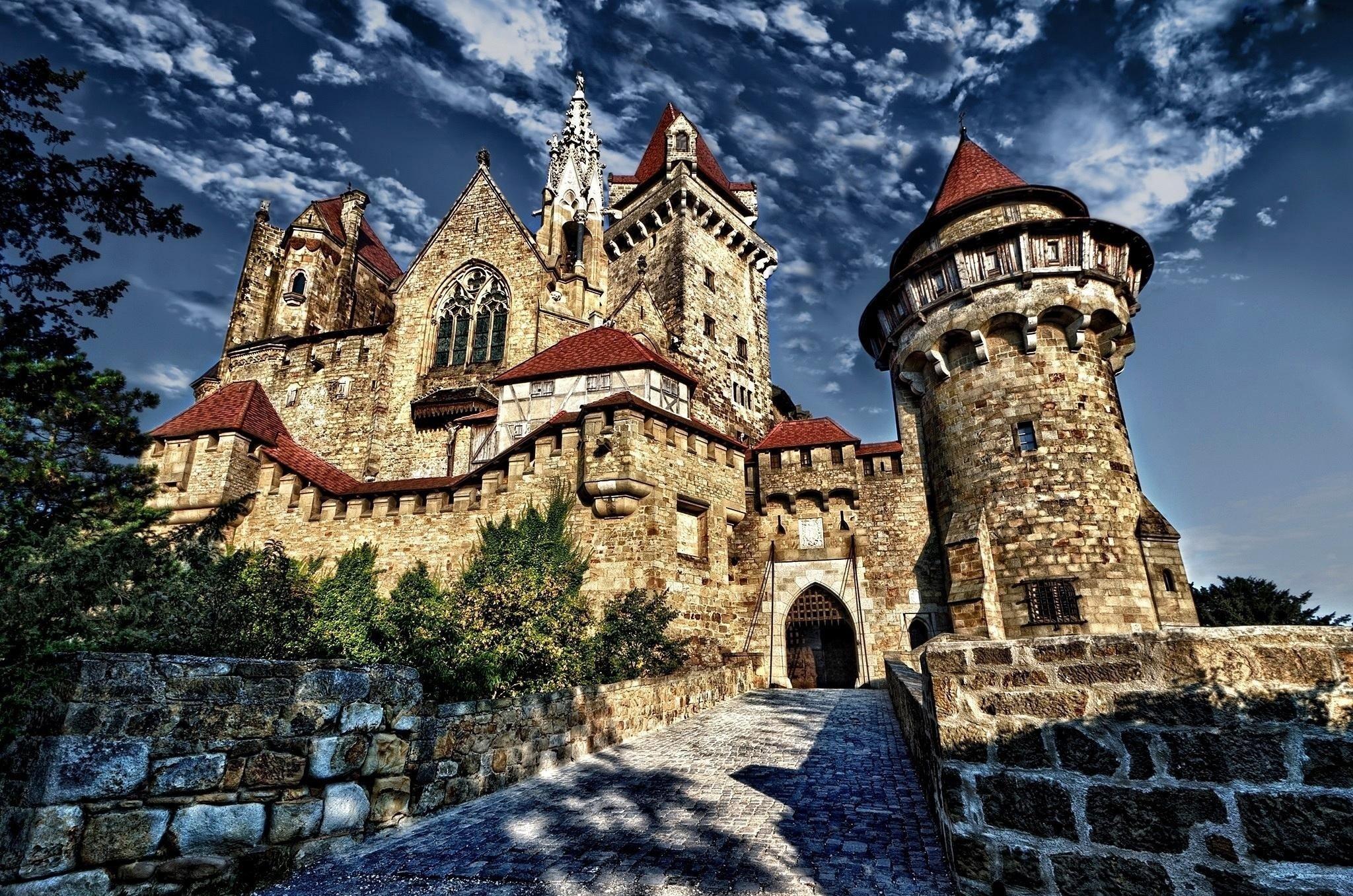 Средневековые замки европы картинки