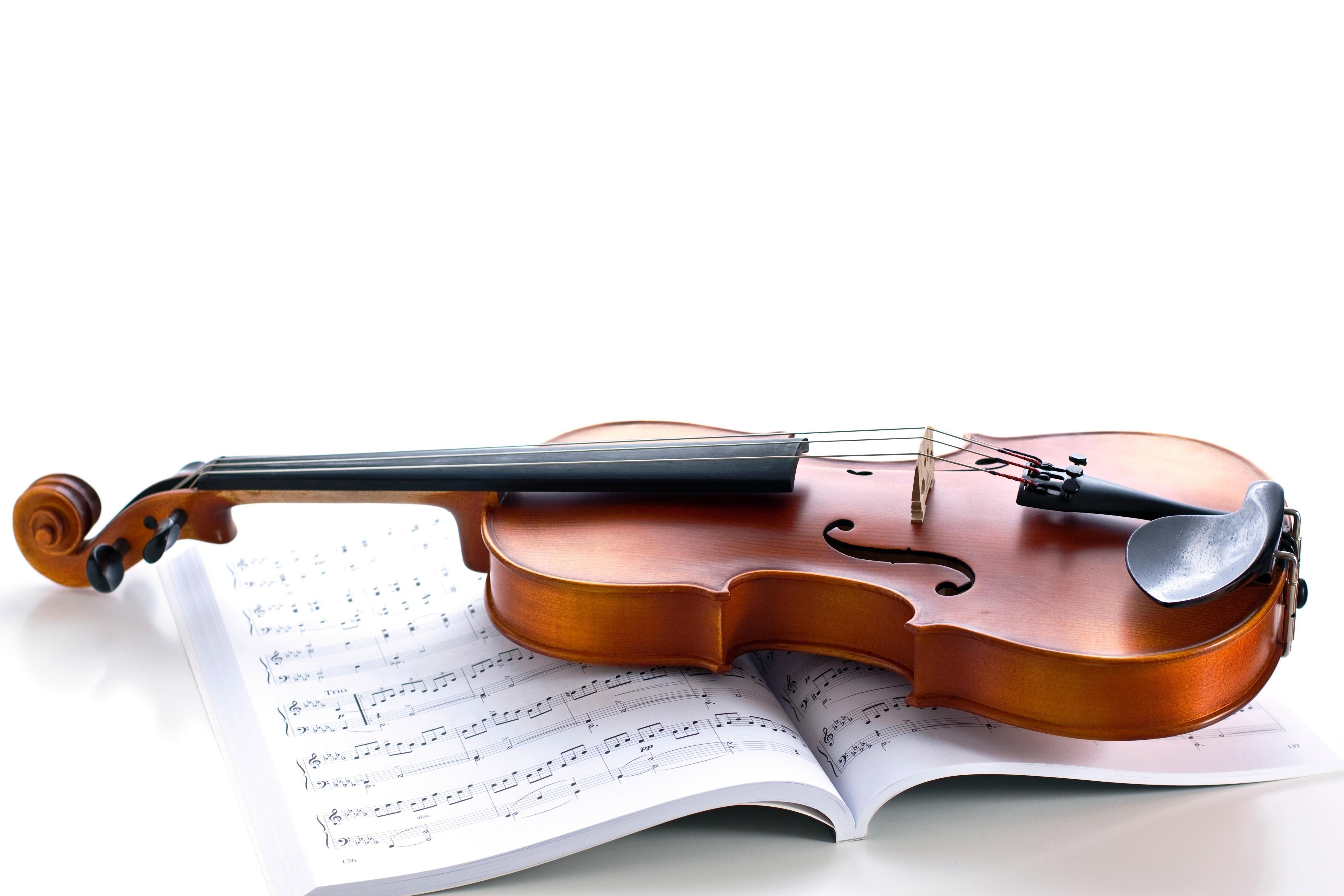 раздел фото скрипки с нотами нас