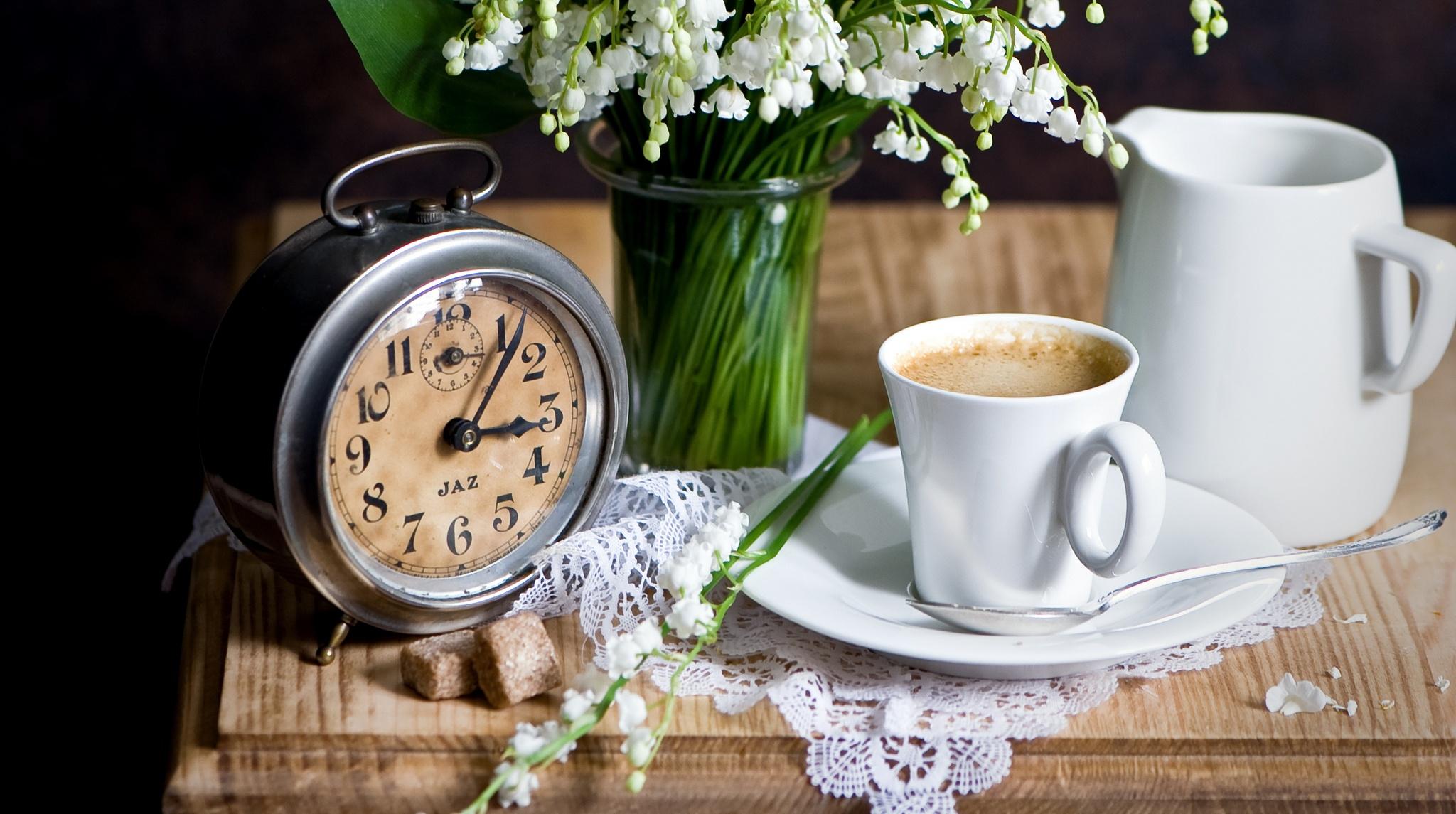 Картинка кофе и весна