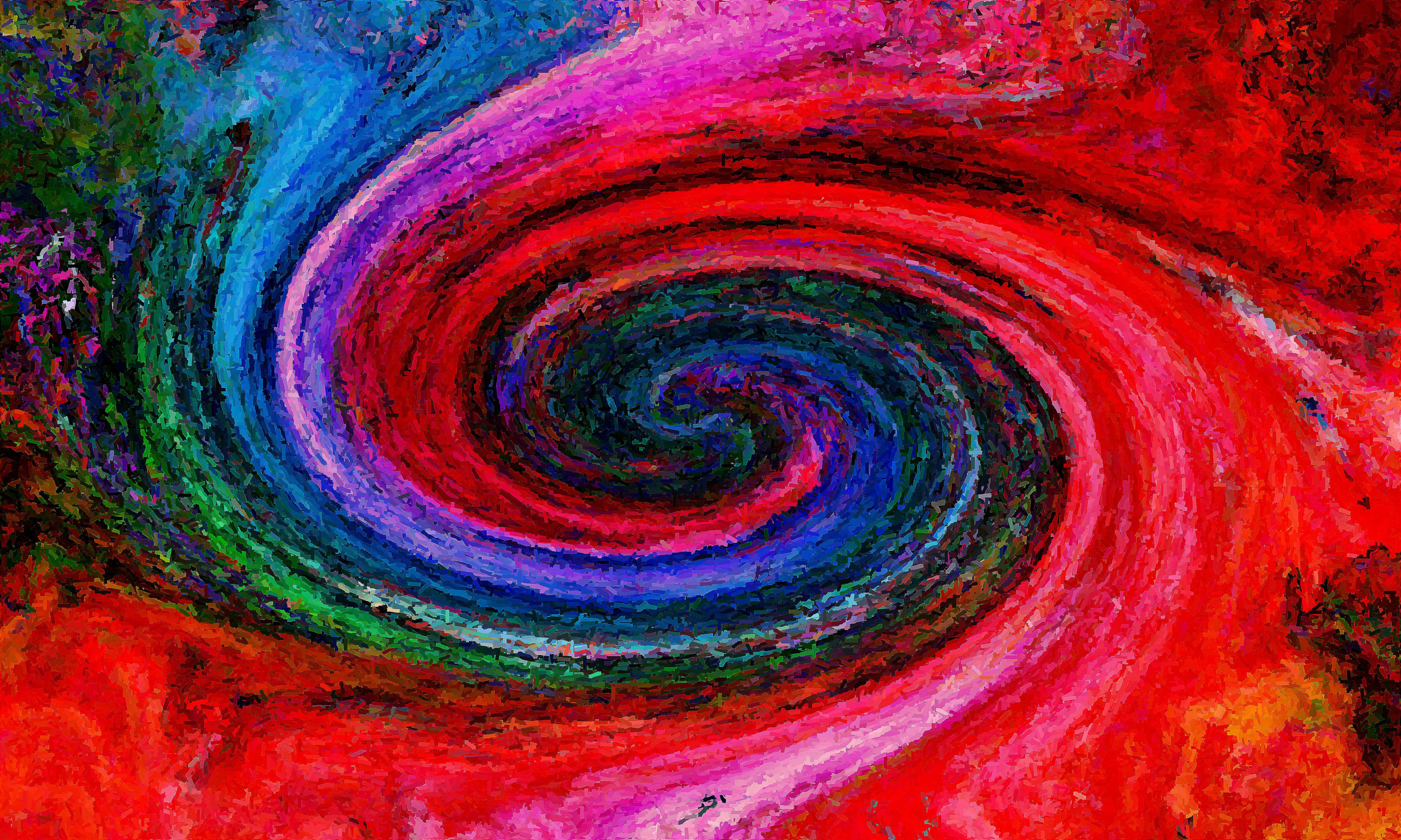 Обои краски, спираль, узор. Абстракции foto 19