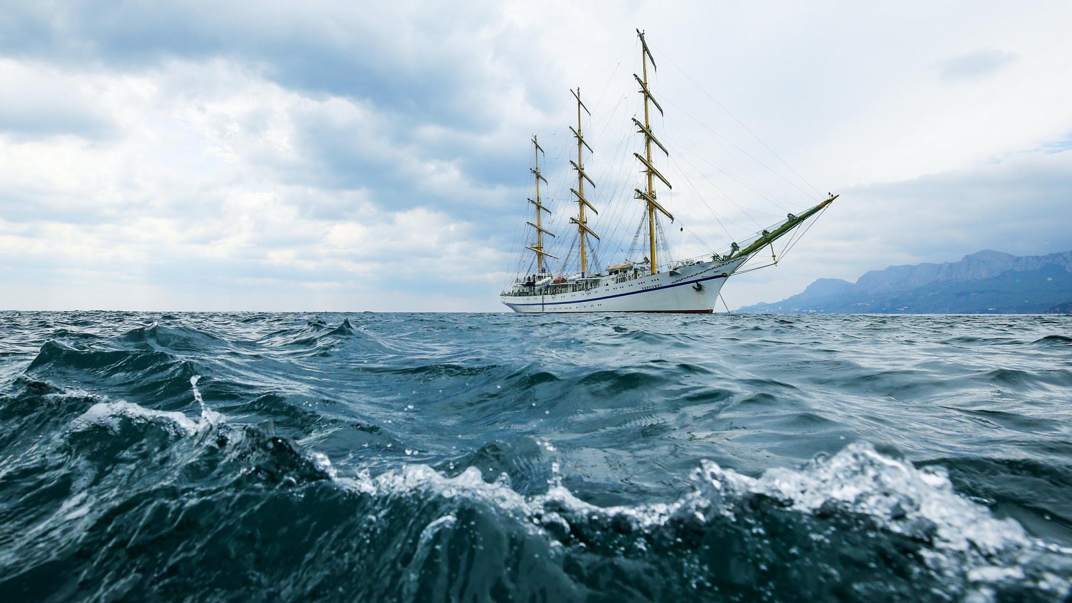 фото море волна корабль что просто наслаждайся