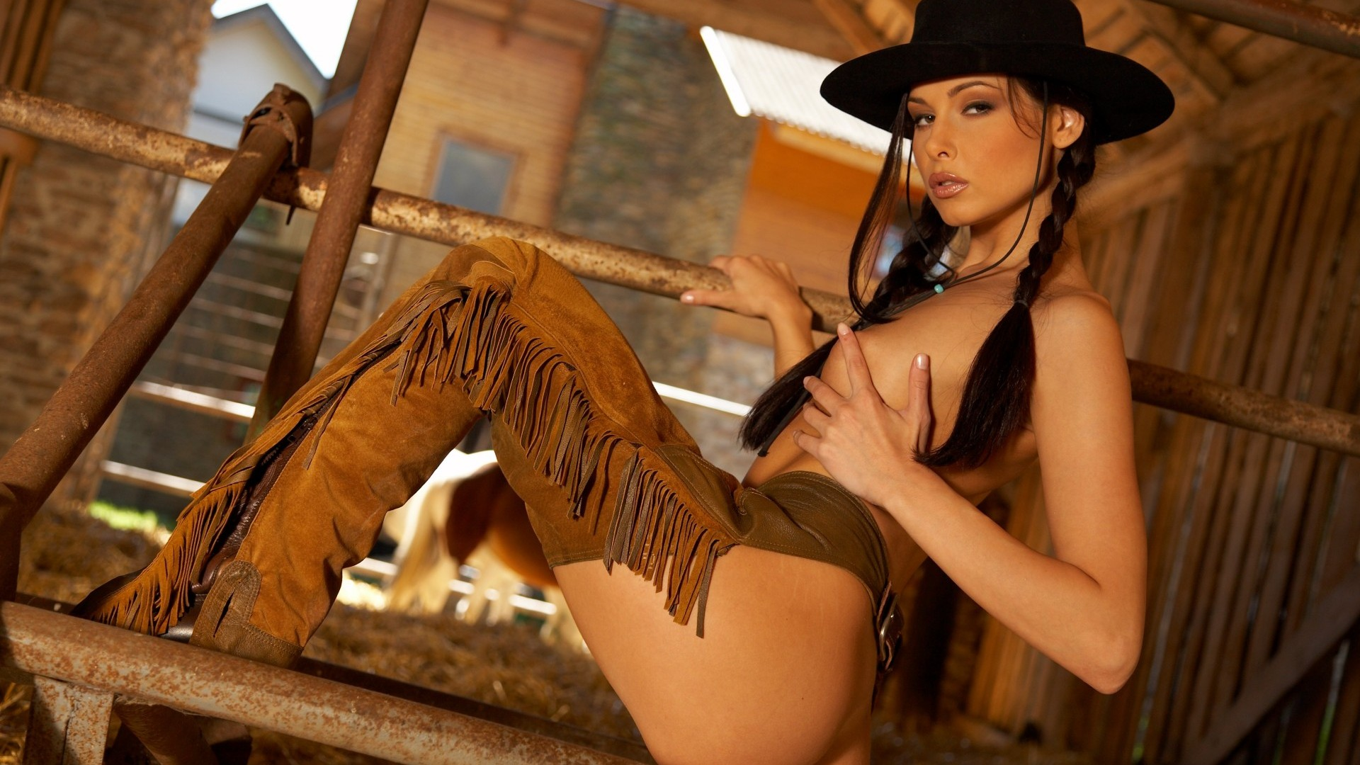 Cowboy and girl naked, adult comix free